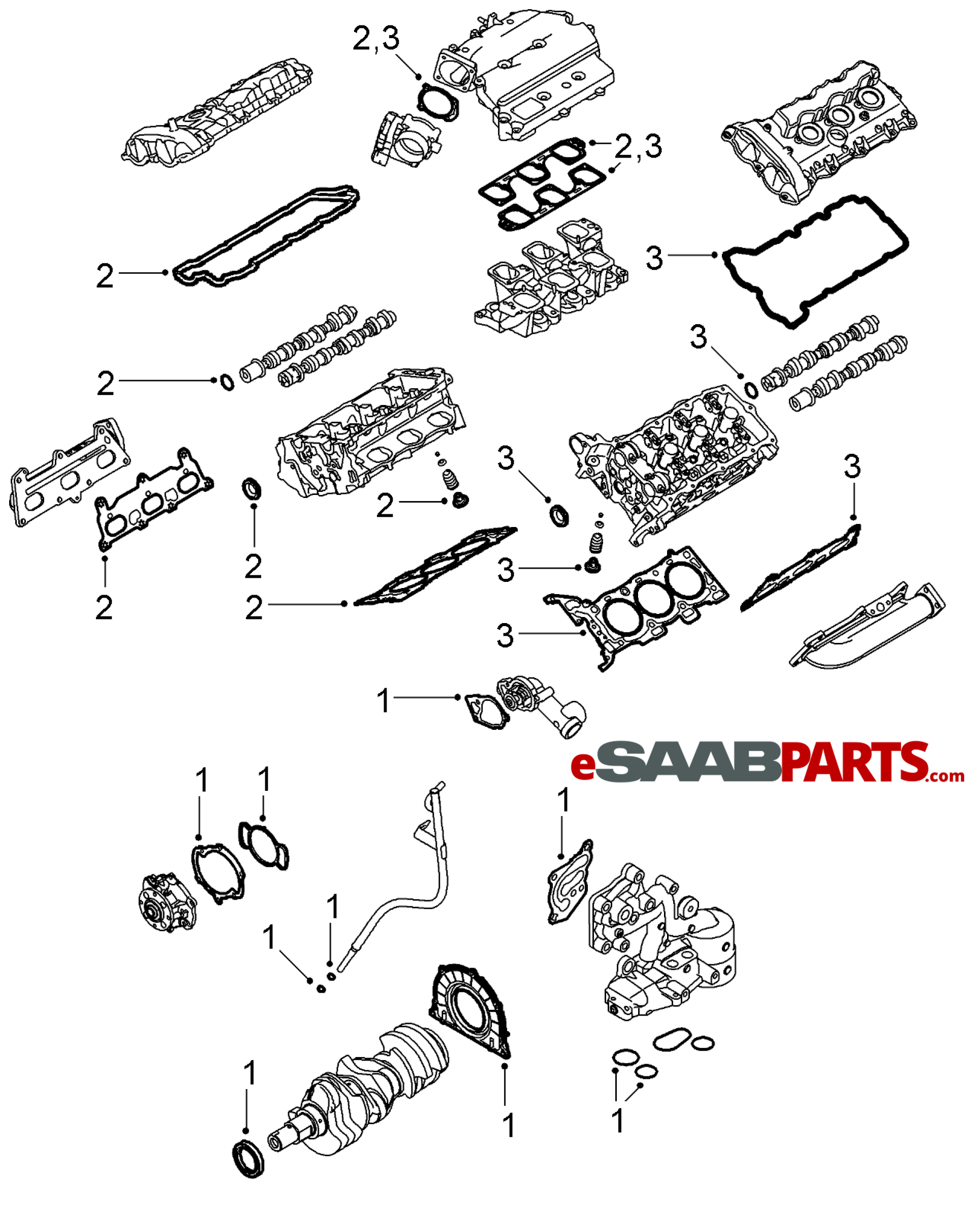 12634480 saab cylinder gasket genuine saab parts from esaabparts