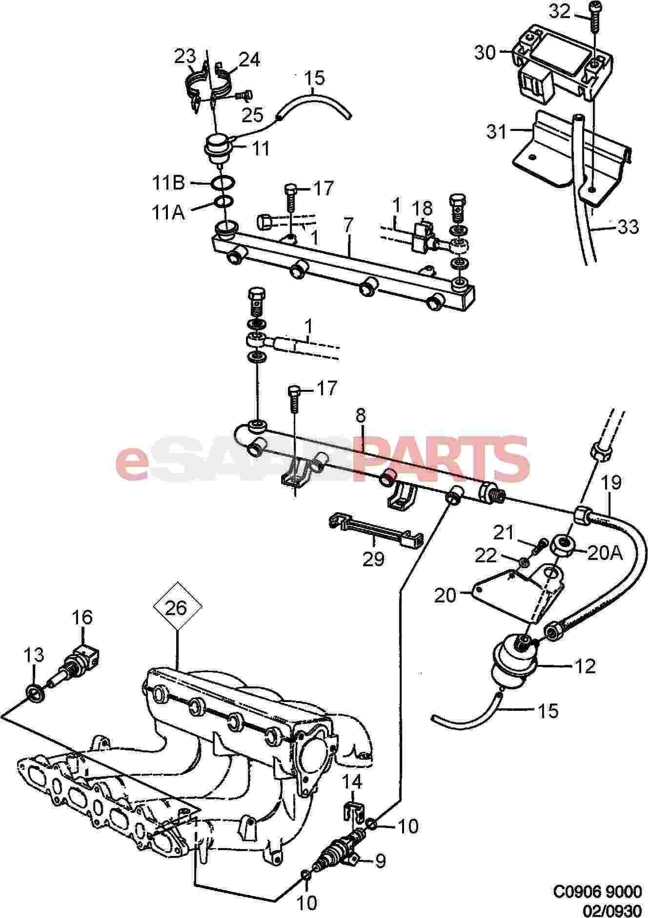 9137803  saab temperature sensor