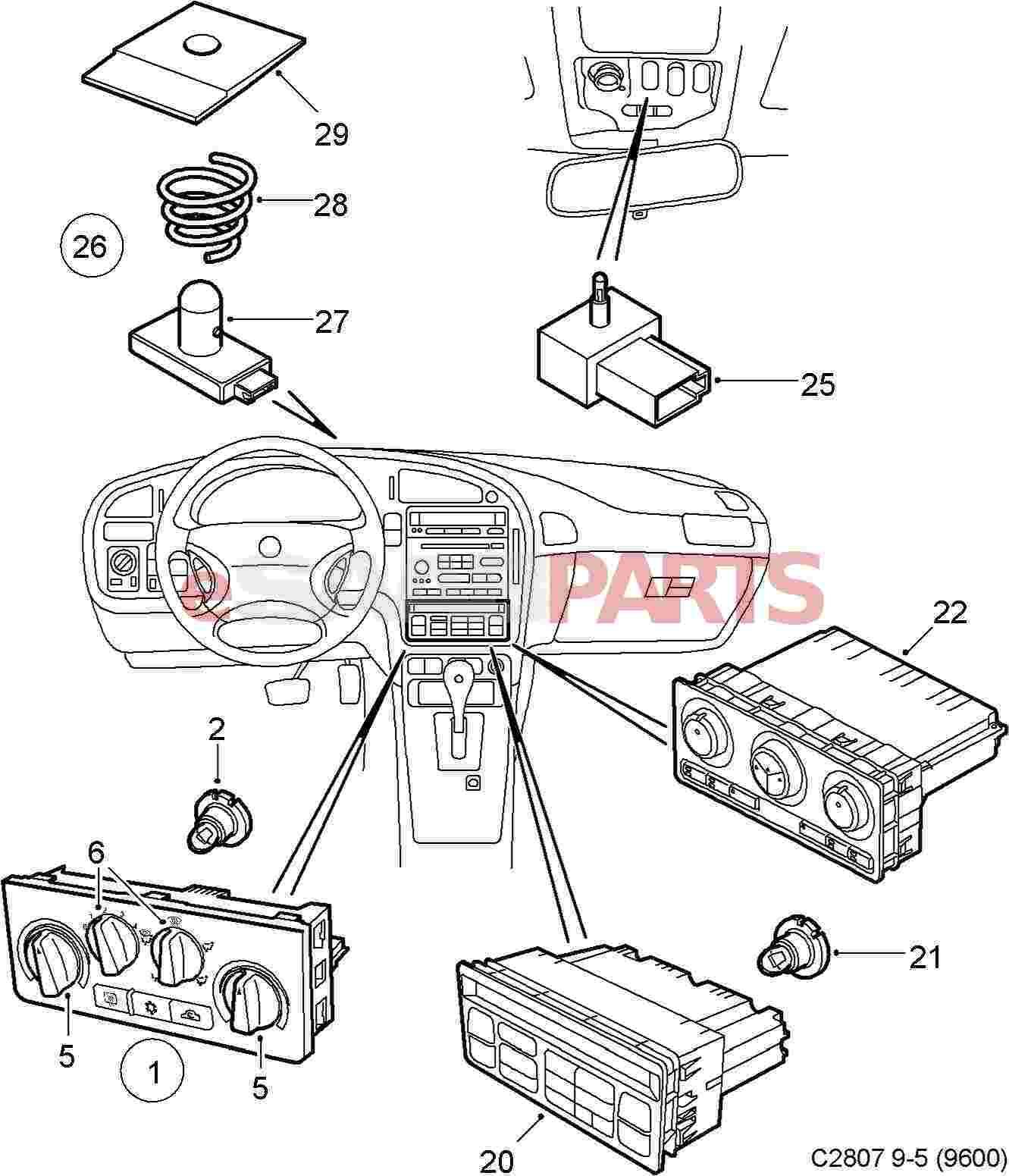 12785496] saab cabin temperature sensor genuine saab parts fromview all parts in diagram