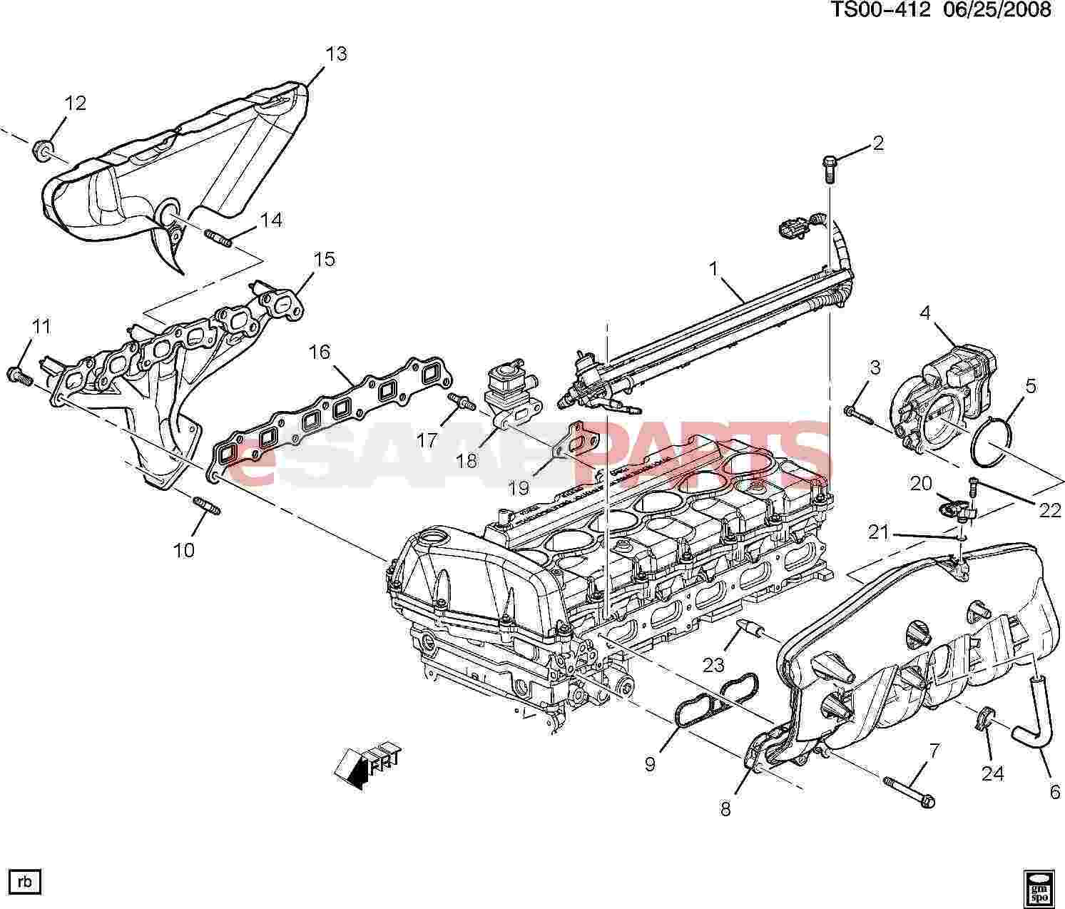 11588717  saab bolt  throt actuator cont mdl