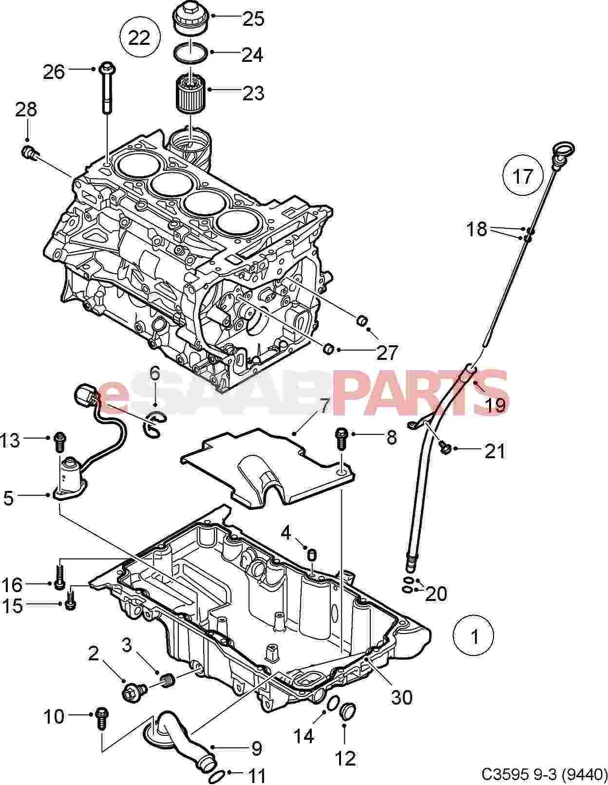 12787978 saab oil level tube genuine saab parts from esaabparts com rh esaabparts com Saab Parts Diagram Saab 9 3 1999 Serpentine Belt