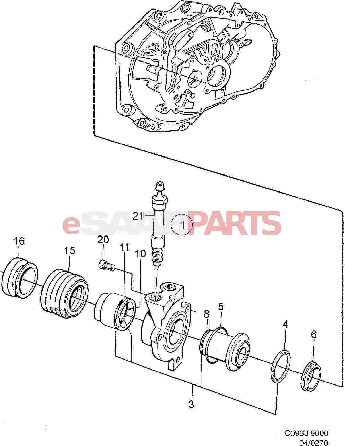 4904561 saab sealing kit genuine saab parts from esaabparts com rh esaabparts com saab 9000 parts list saab 9000 parts list