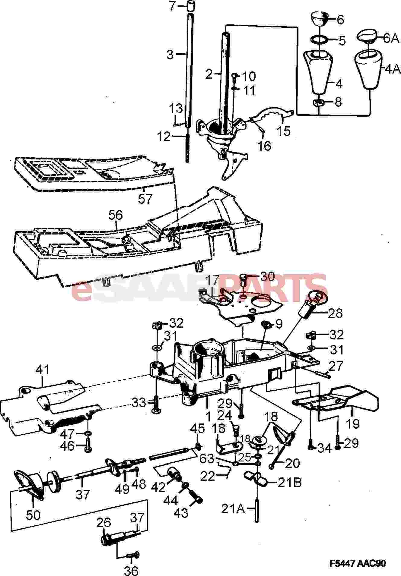 1990 Saab 900 Transmission Diagram Basic Guide Wiring Esaabparts Com U003e Parts Rh Cooling Fan Dimensions 1989 Shifter