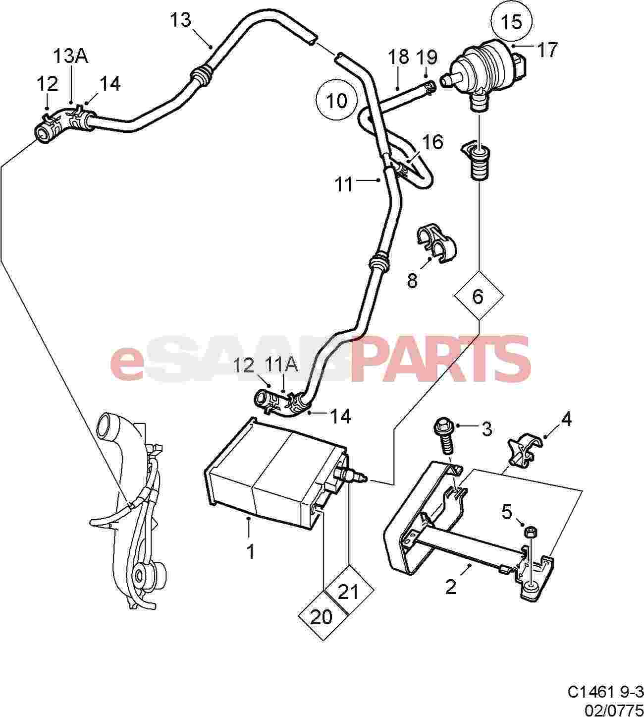 4670477 saab evap canister purge valve genuine saab parts from rh esaabparts com Fuel Evap System Diagram Evap Emission Control System
