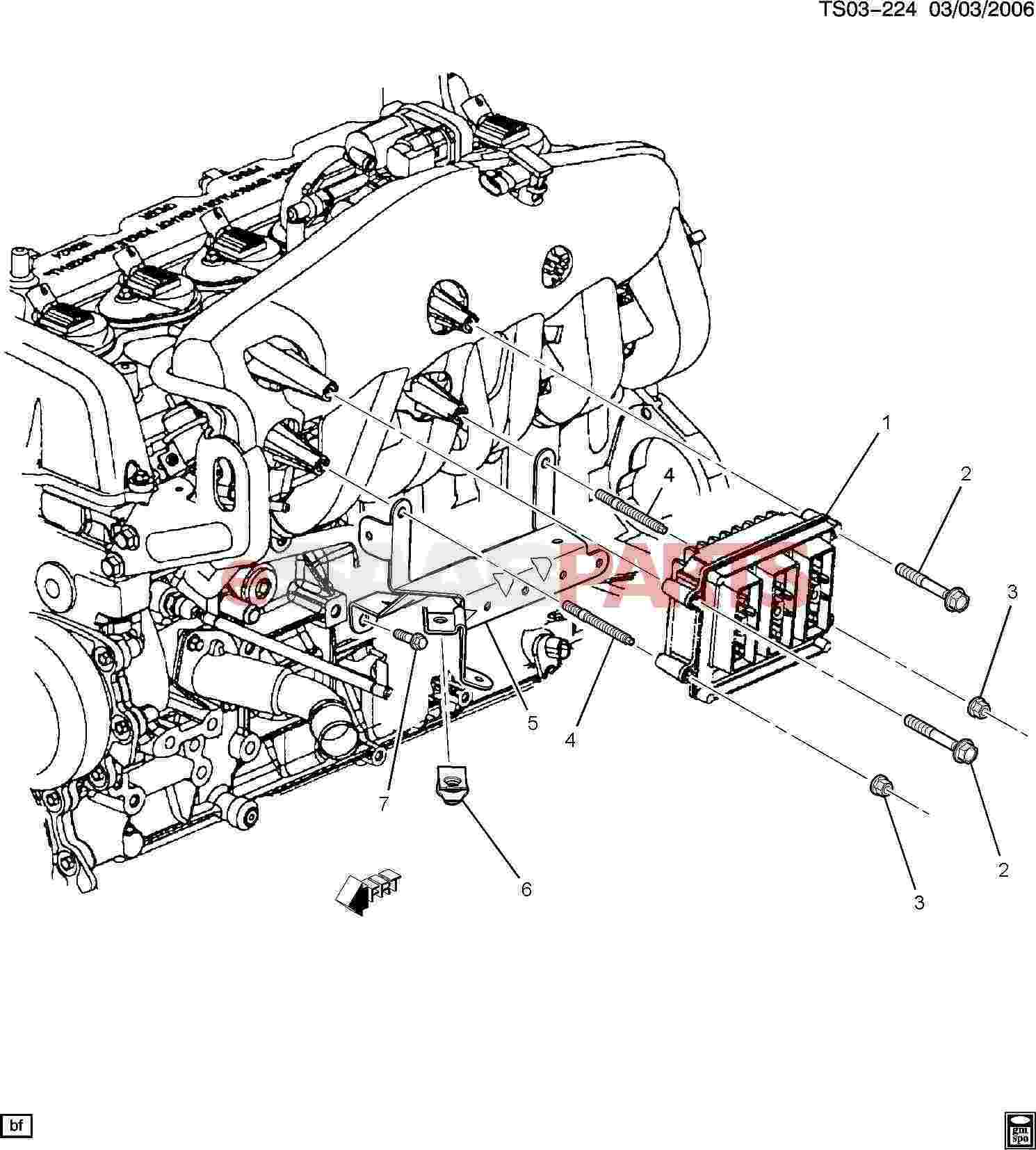 eSaabParts.com - Saab 9-7x > Electrical Parts > Electronic Modules > P.C.M.  Module & Wiring Harness (4.2S)