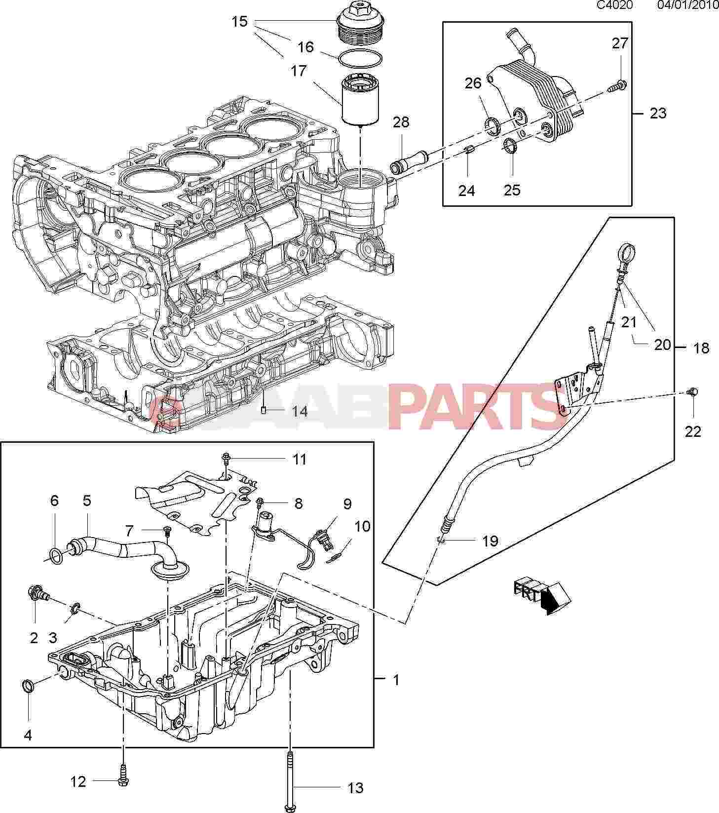 24461500 saab oil level sensor 2 0t genuine saab parts from rh esaabparts com 2003 Saab 9-3 Fuse Box Diagram 1997 Saab 900 Amplifier Wiring