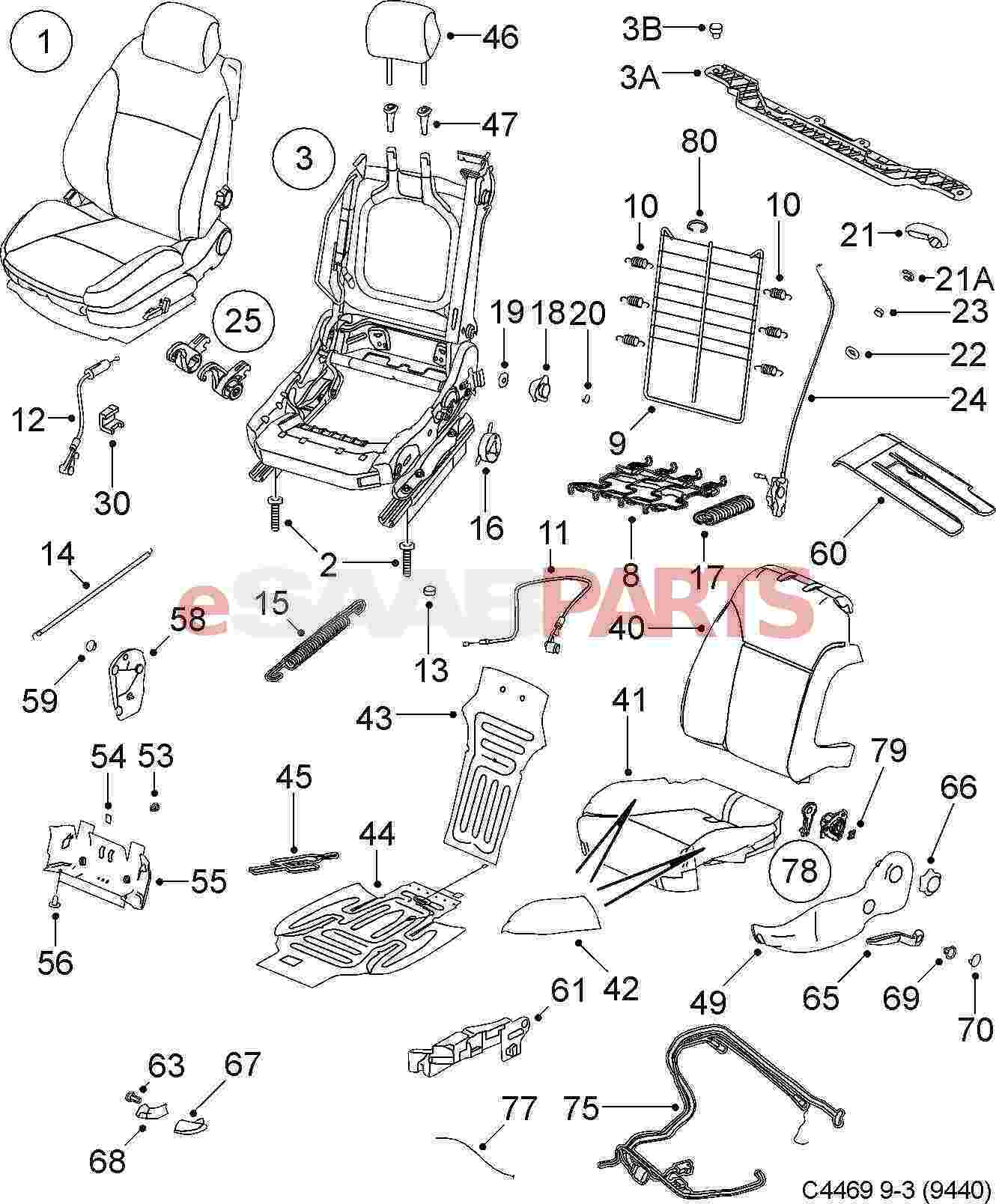 saab 9 3 seat diagram  saab  auto fuse box diagram