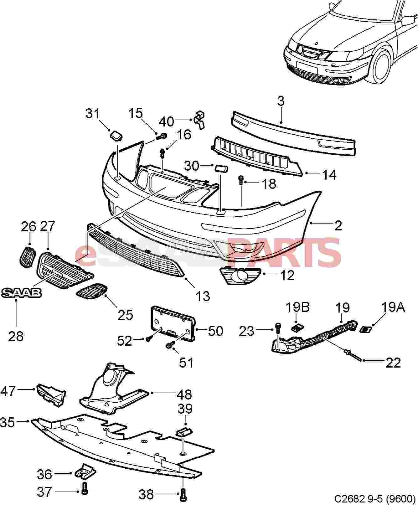 5289681 saab grille genuine saab parts from esaabparts diagram image 27 sciox Image collections