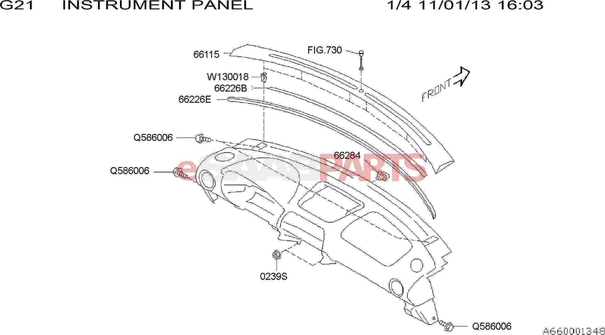 2006 saab 9 3 instrument panel