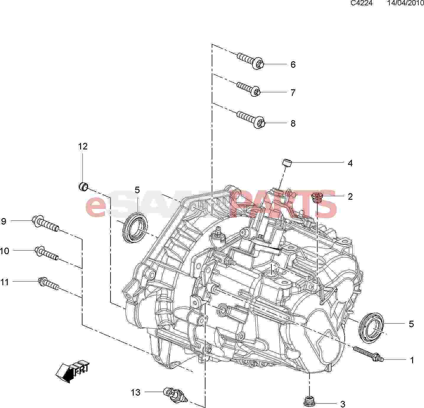 12755013  saab axle seal  manual transmission 6
