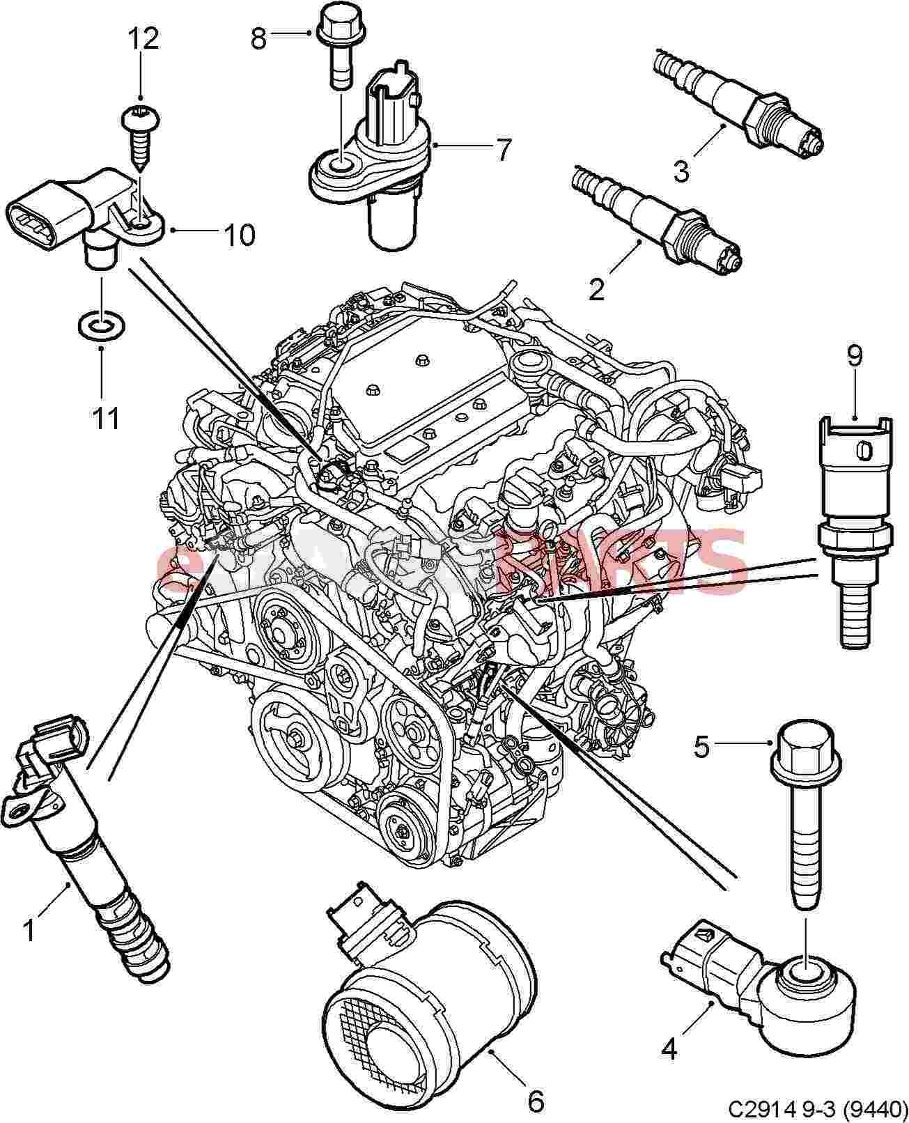 esaabparts com saab 9 3 9440 u003e electrical parts u003e engine sensors rh esaabparts com Saab 900 Engine Diagram saab engine diagrams