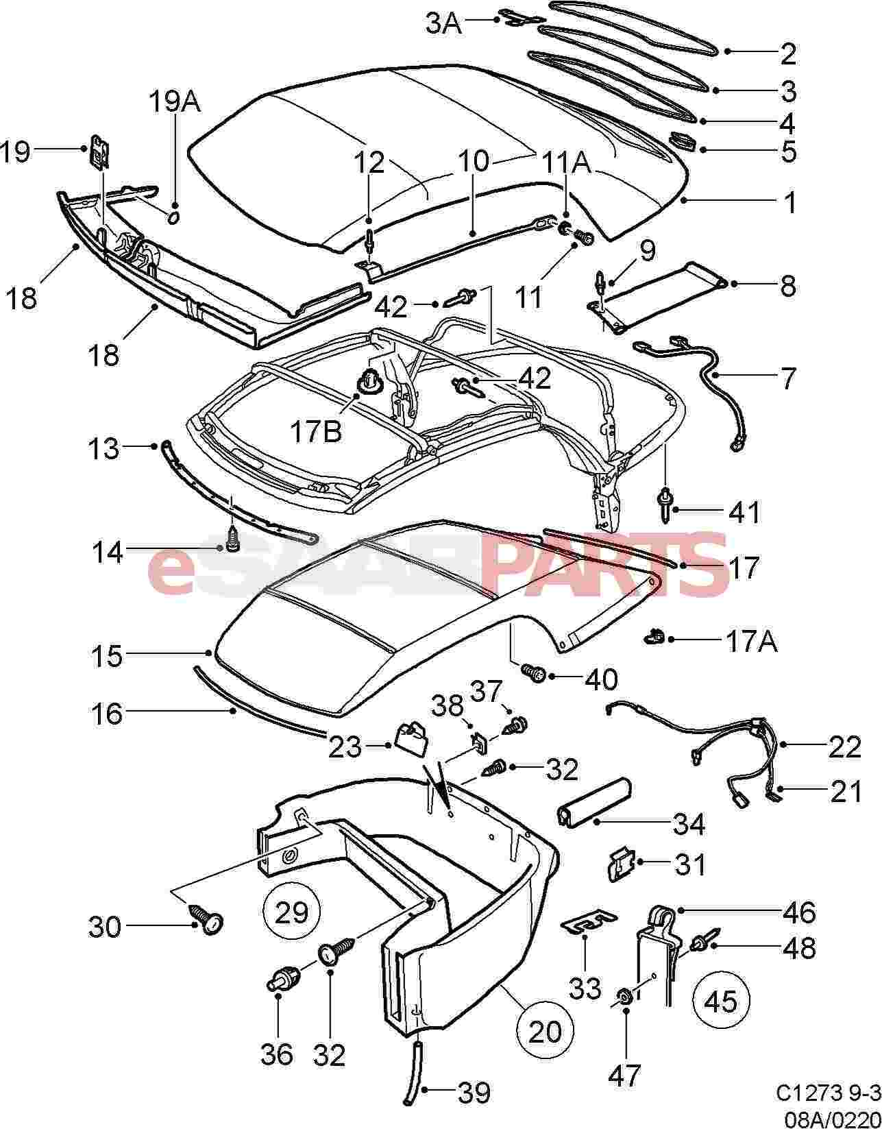 Saab Wiring Diagram 9 5 Reveolution Of Stereo Harness 2005 Esaabparts Com Pdf Towbar