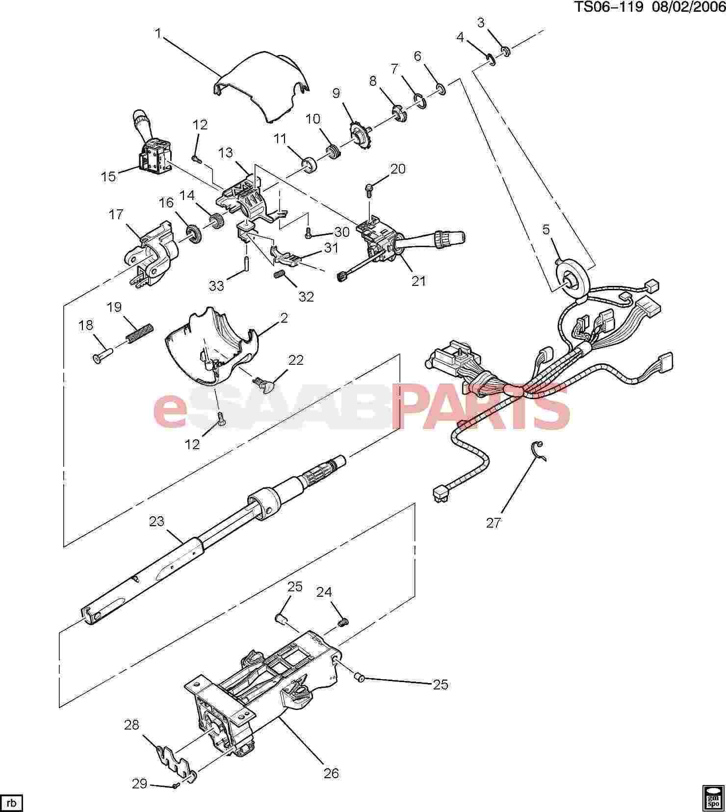 service manual  2009 saab 42072 tilt steering lever repair