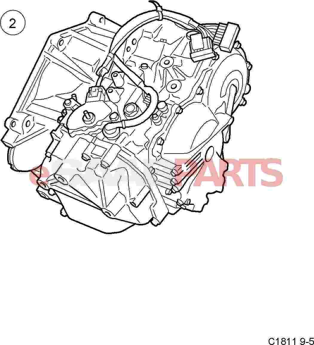 2002 Saab 43594 Transmission: [5445911] SAAB Transmission