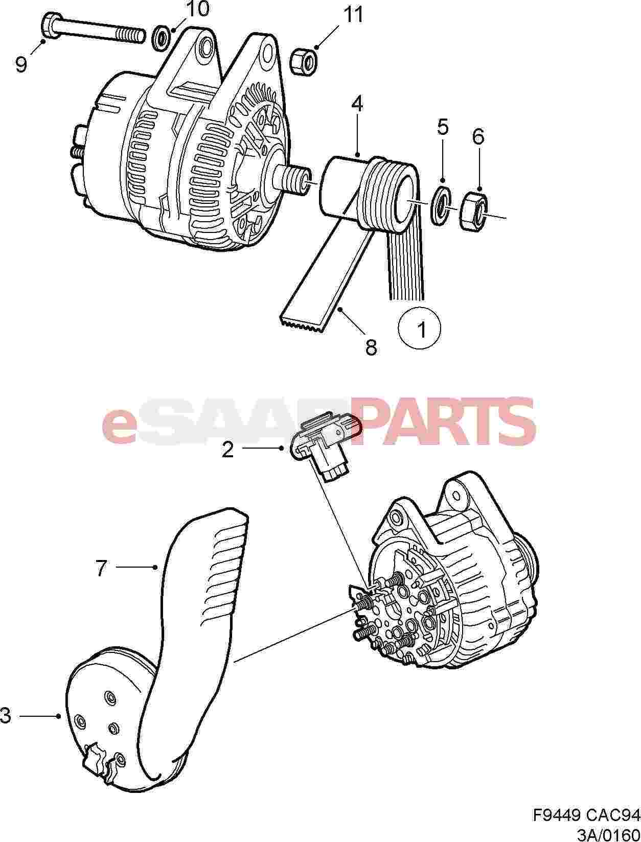 Lng EN srub 161 iprod 2468 pageid 40 Lower Radiator Hose For Saab 900 Ng furthermore Right Rear Fender Molding Saab 9 5 98 together with Subaru Engine Scheme moreover Brake Hose Rear Axle Saab 9 5 as well Hydraulic Hose Conv Top 4. on saab 900 turbo exhaust