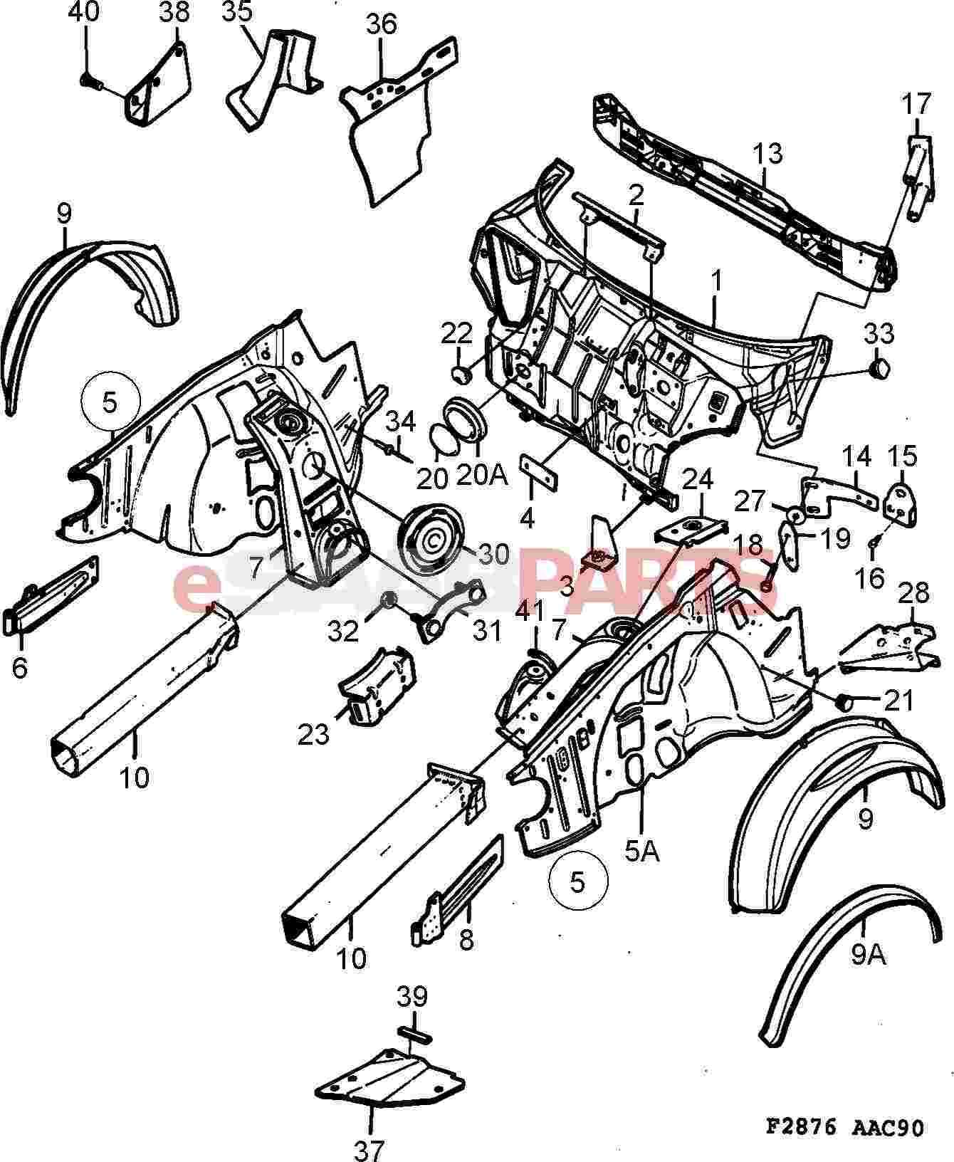 eSaabParts.com - Saab 900 > Car Body: External Parts > Body Parts ...