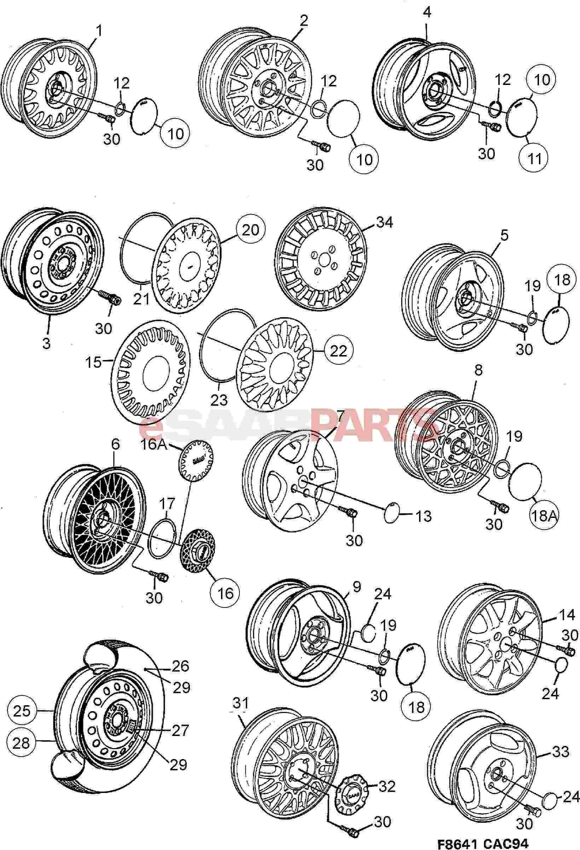 4648424  saab wheel cap