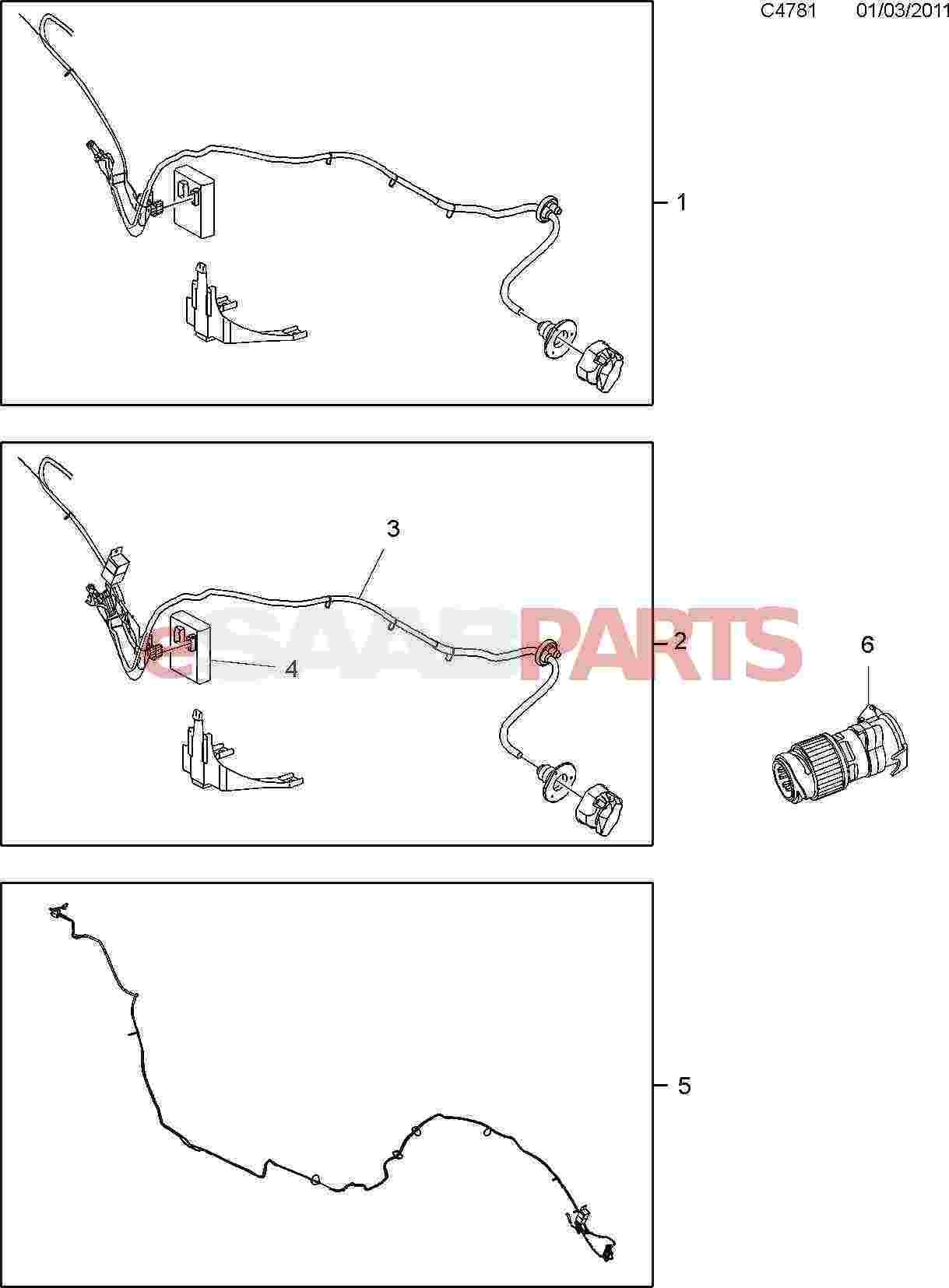 Saab 9 5 Trailer Wiring Harness Radio Stereo 3 Esaabpartscom 650 Electrical Parts On