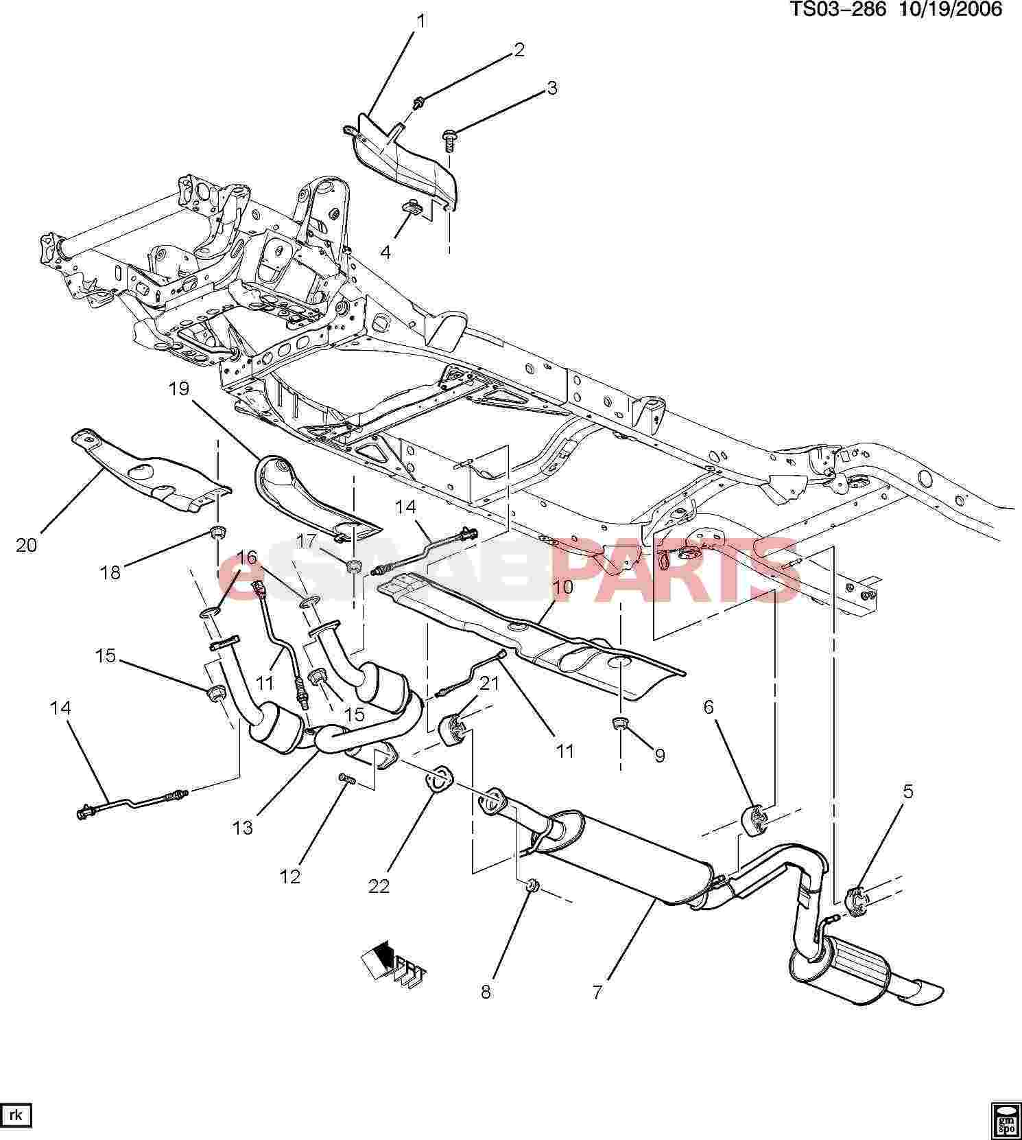 esaabparts com saab 9 7x u003e engine parts u003e exhaust parts u003e  exhaust rh esaabparts com