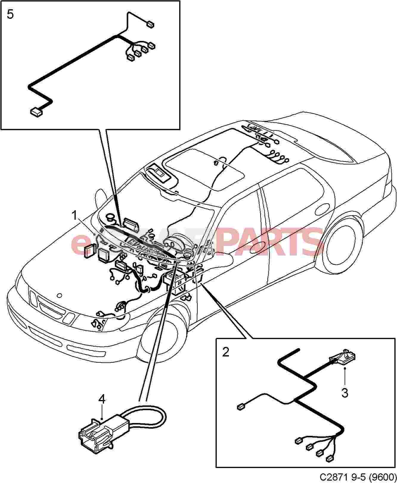 12764524  Saab Cable Harness