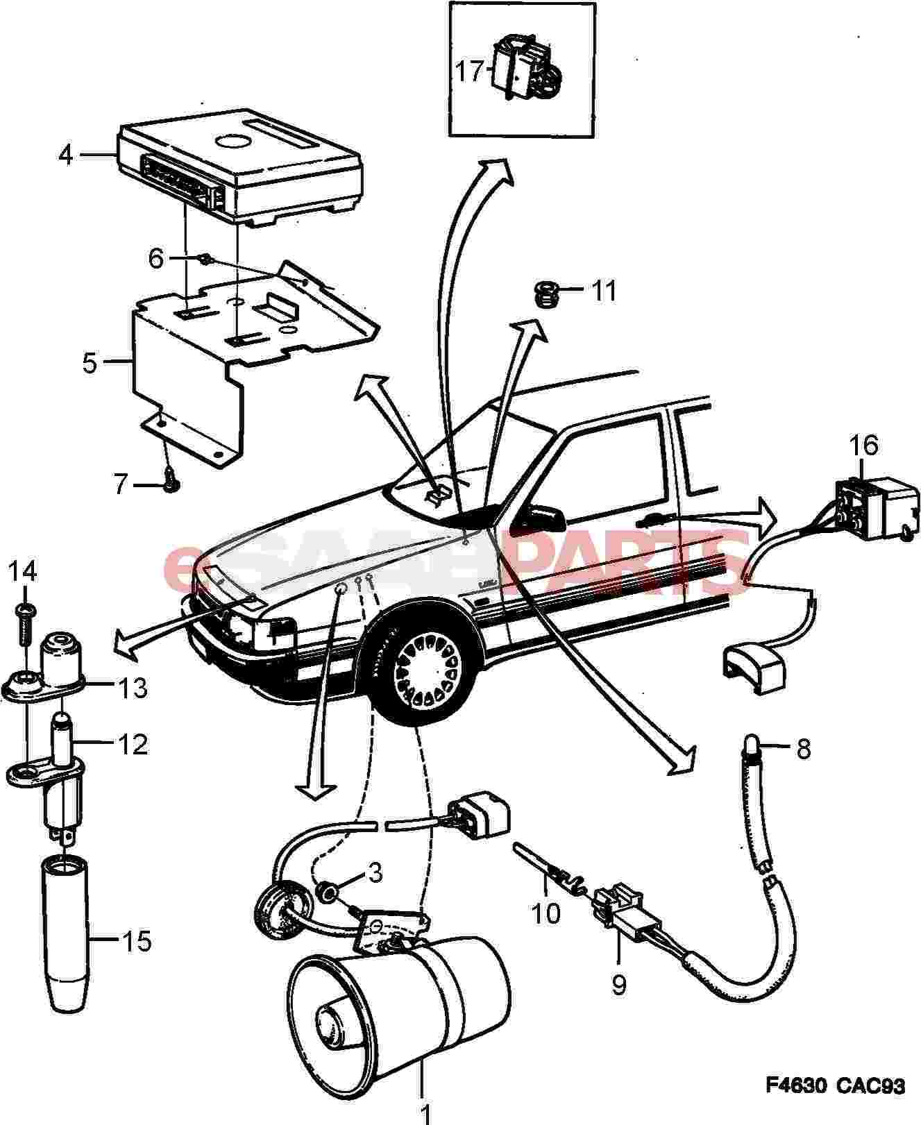 eSaabParts.com - Saab 9000 > Electrical Parts > Alarm & Related > Anti  theft system