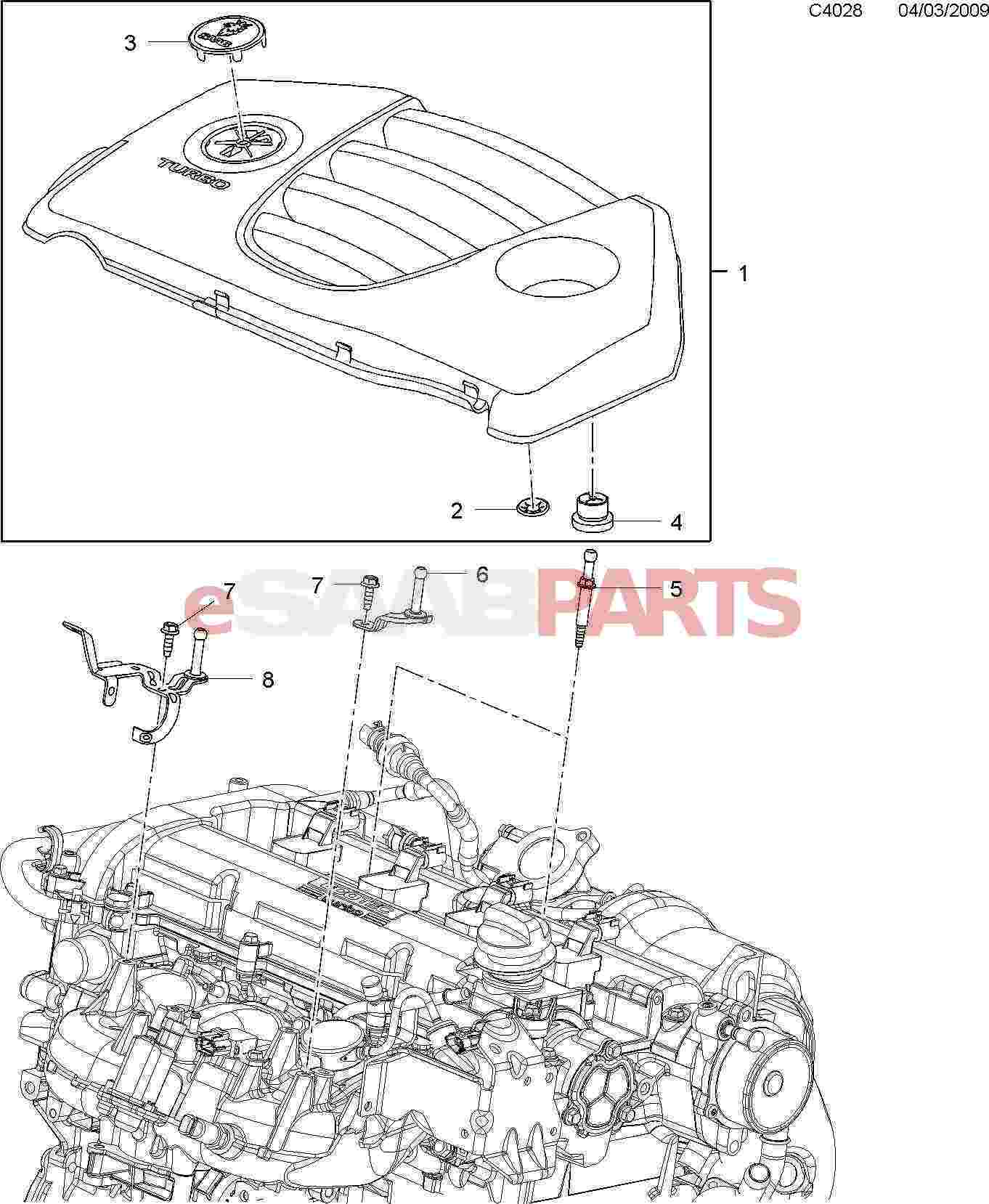 saab 9 3 engine bay diagram