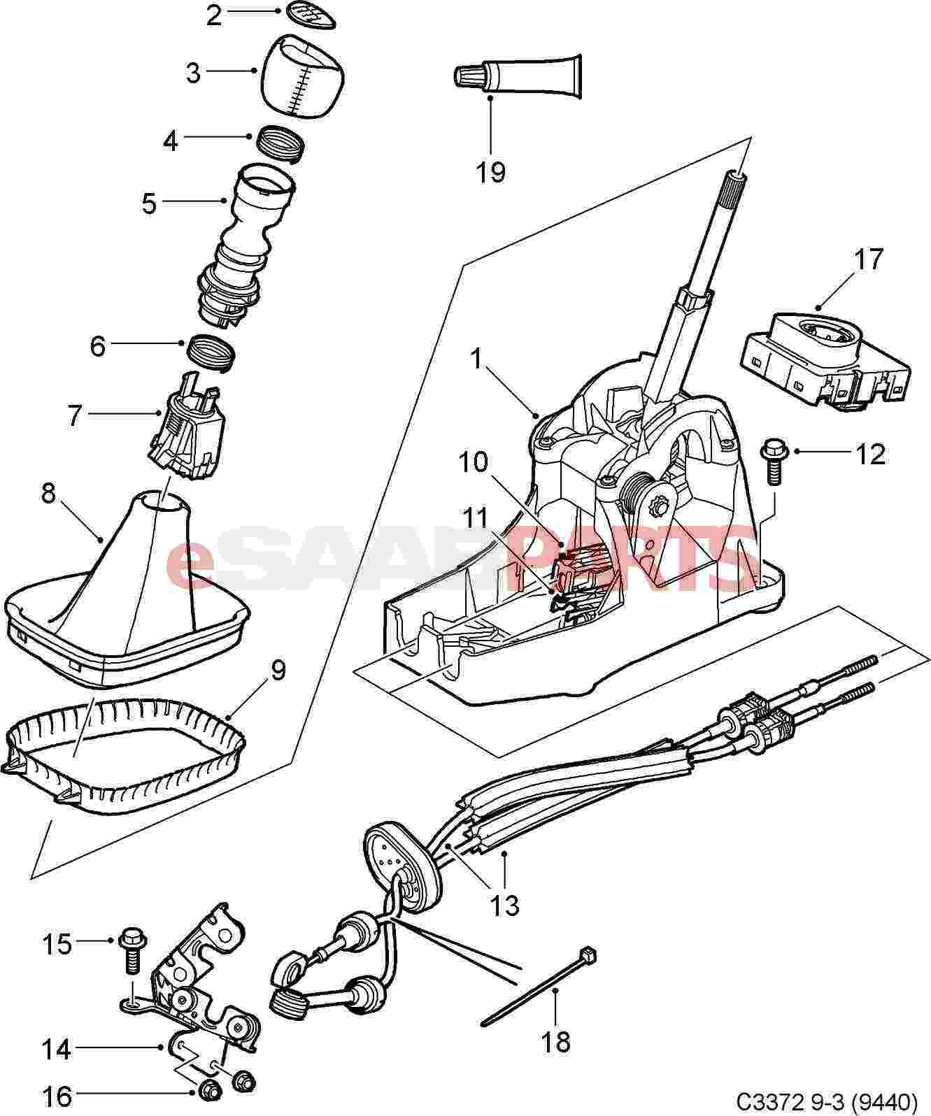 Saab 900s Parts Diagram Shifter Automatic on 1992 mitsubishi 3000gt wiring diagram