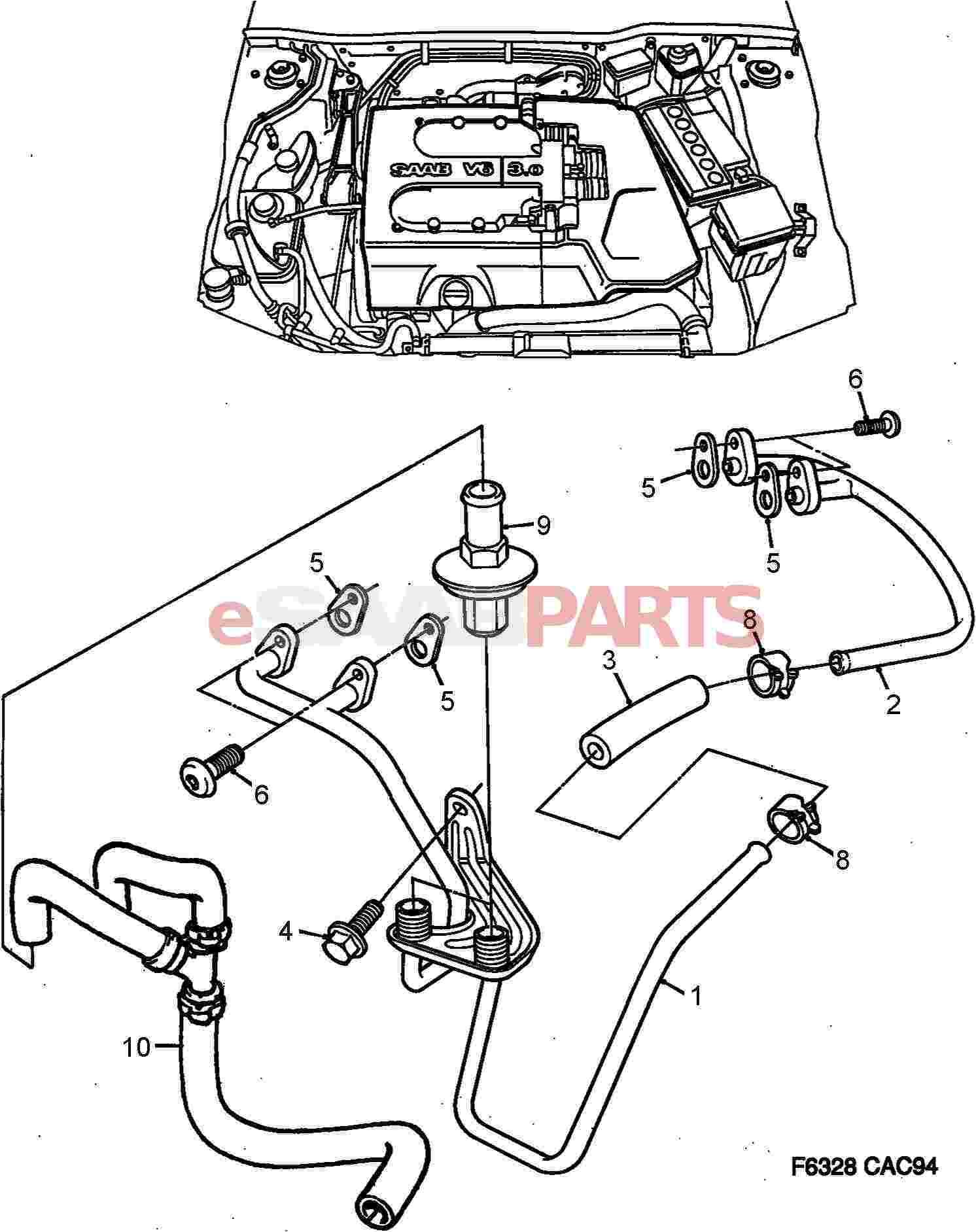Saab 9000 Engine Diagram Reinvent Your Wiring Esaabparts Com U003e Parts Emissions Sai Check Rh 1997 Aero 1988 Turbo