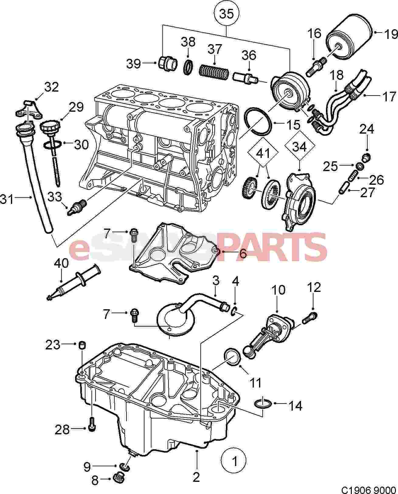 Saab 9000 Engine Diagram Experience Of Wiring Ford Cortina 9321779 Pump Kit Genuine Parts From Esaabparts Com Rh Audi S6