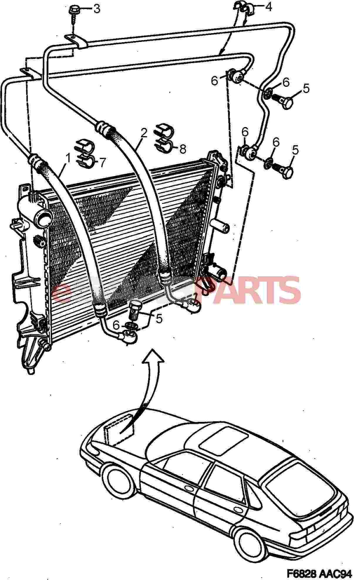 saab 900 transmission part diagram