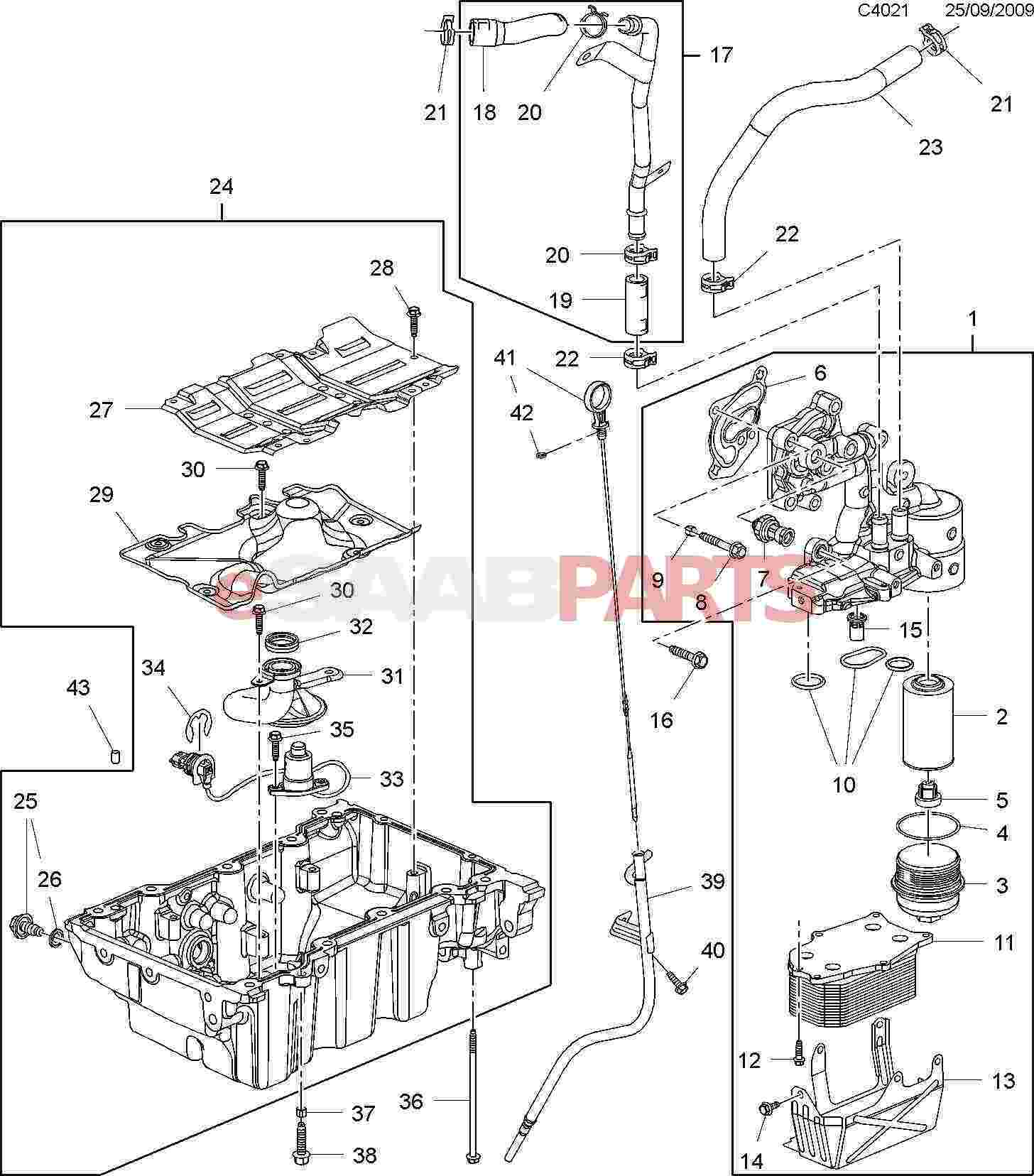 saab 9 5 3 0 engine diagram