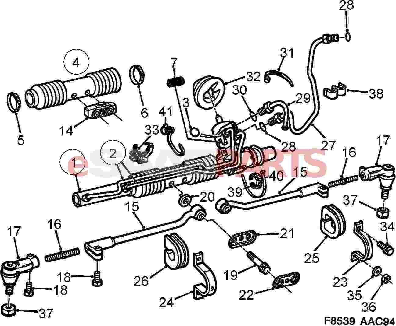 saab 900 front suspension diagram  saab  auto parts