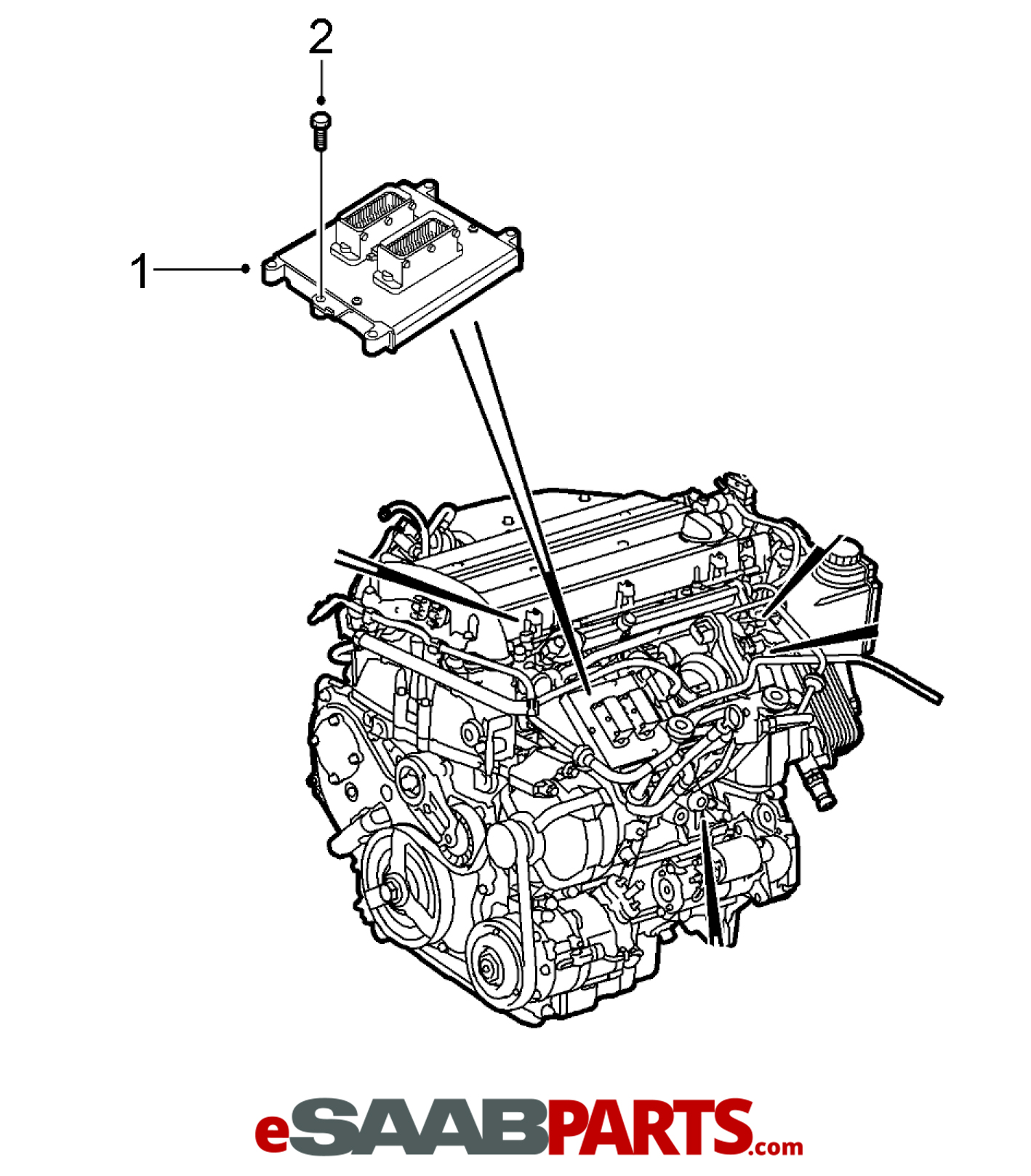 32019554  saab ecu  ecm engine computer