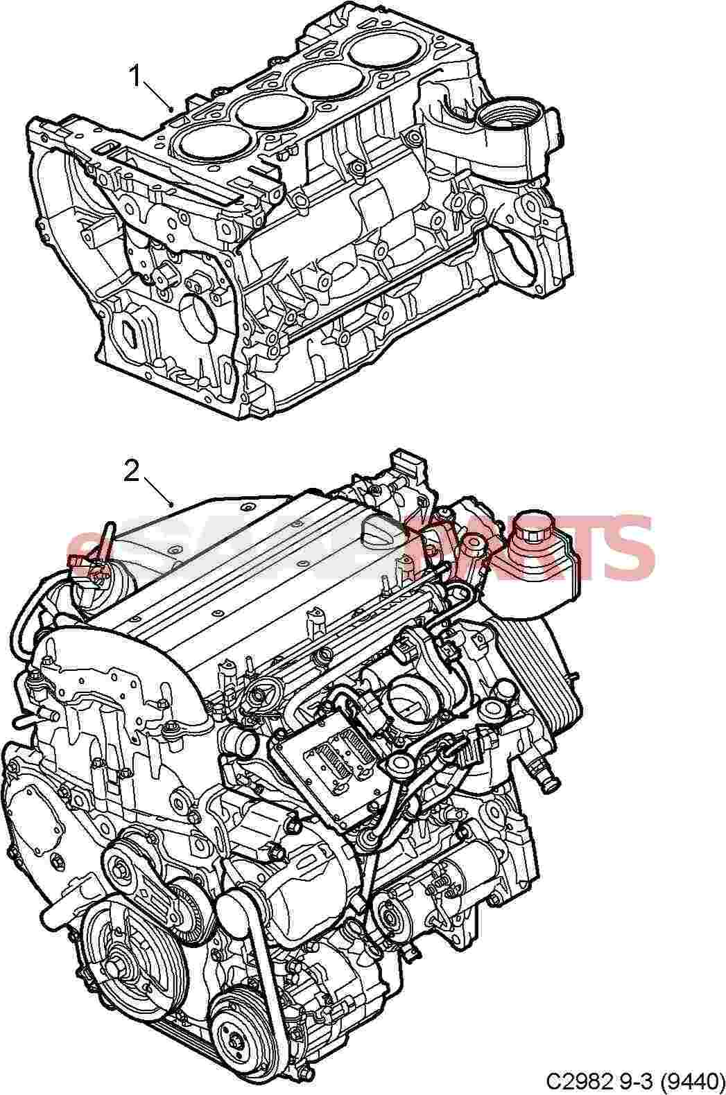 55559028  Saab Engine Less Alternator