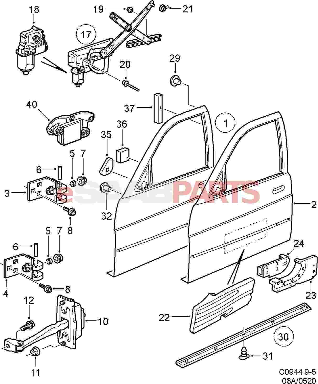 Saab Parts Diagrams Solution Of Your Wiring Diagram Guide 9 3 2007 Door Data Rh 17 8 2 Reisen Fuer Meister De