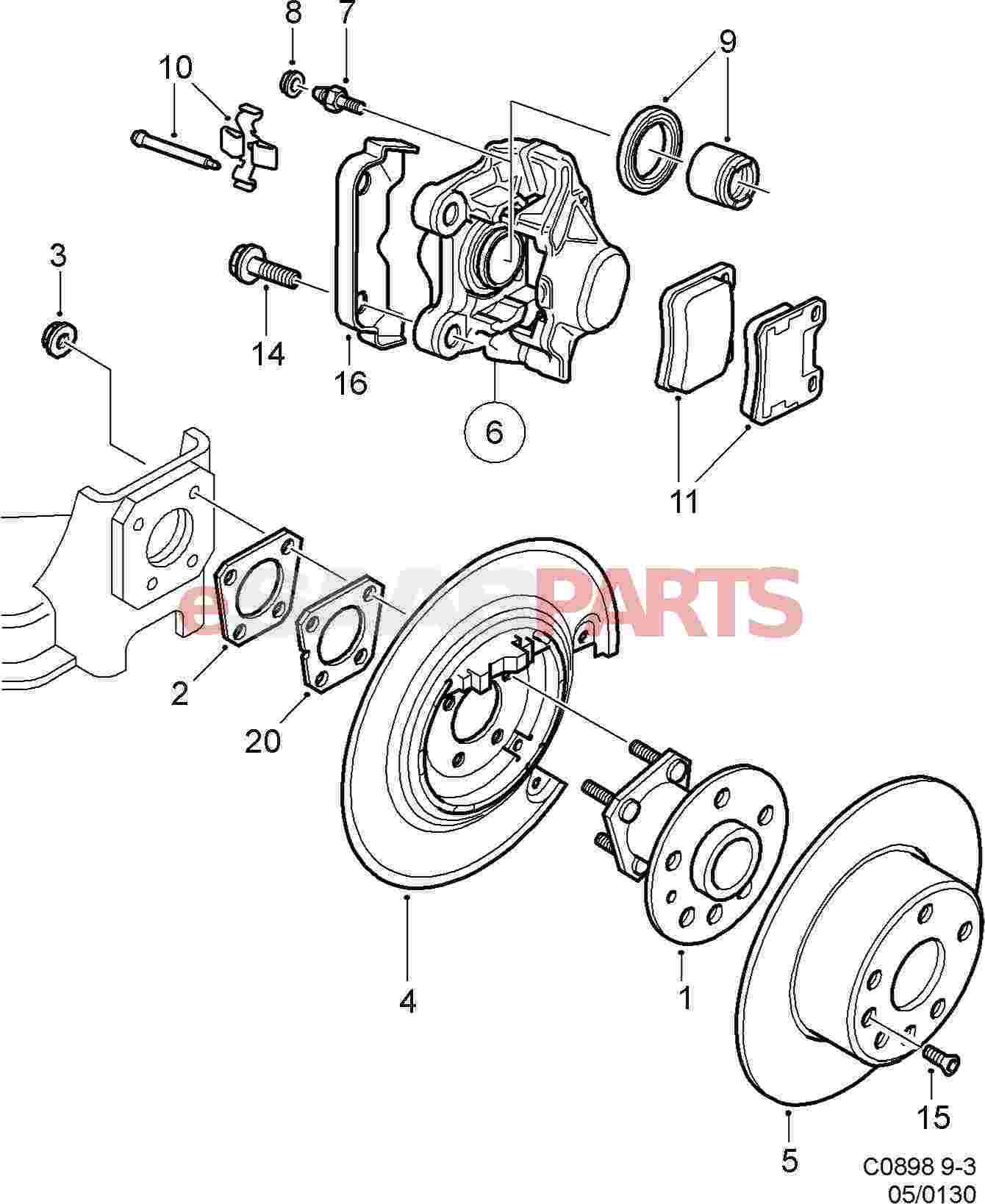 saab brakes diagram 4 1 artatec automobile de \u2022saab brakes diagram wiring library rh ggve nl brake parts brake pad diagram