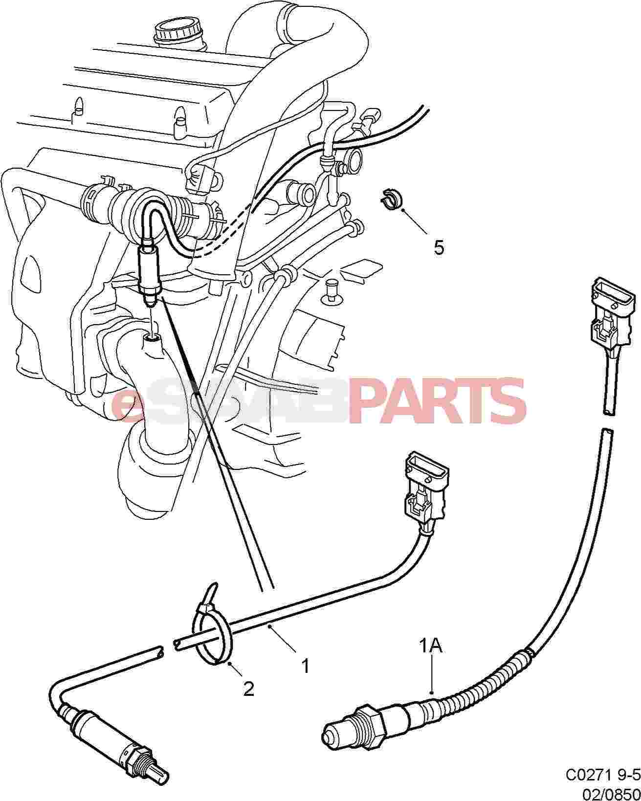 4570917  saab rear heated oxygen sensor