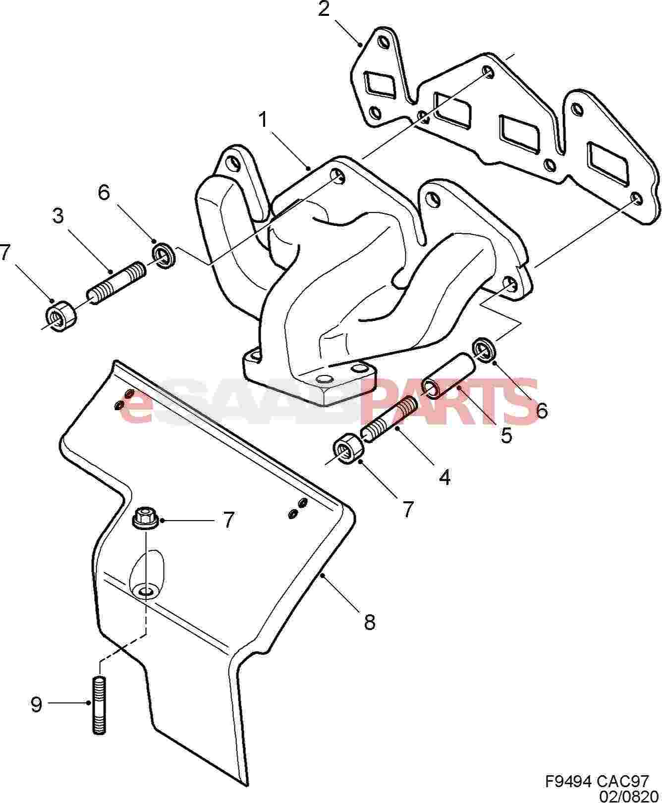9176900  SAAB    Exhaust       Manifold     Turbo  Saab Parts from