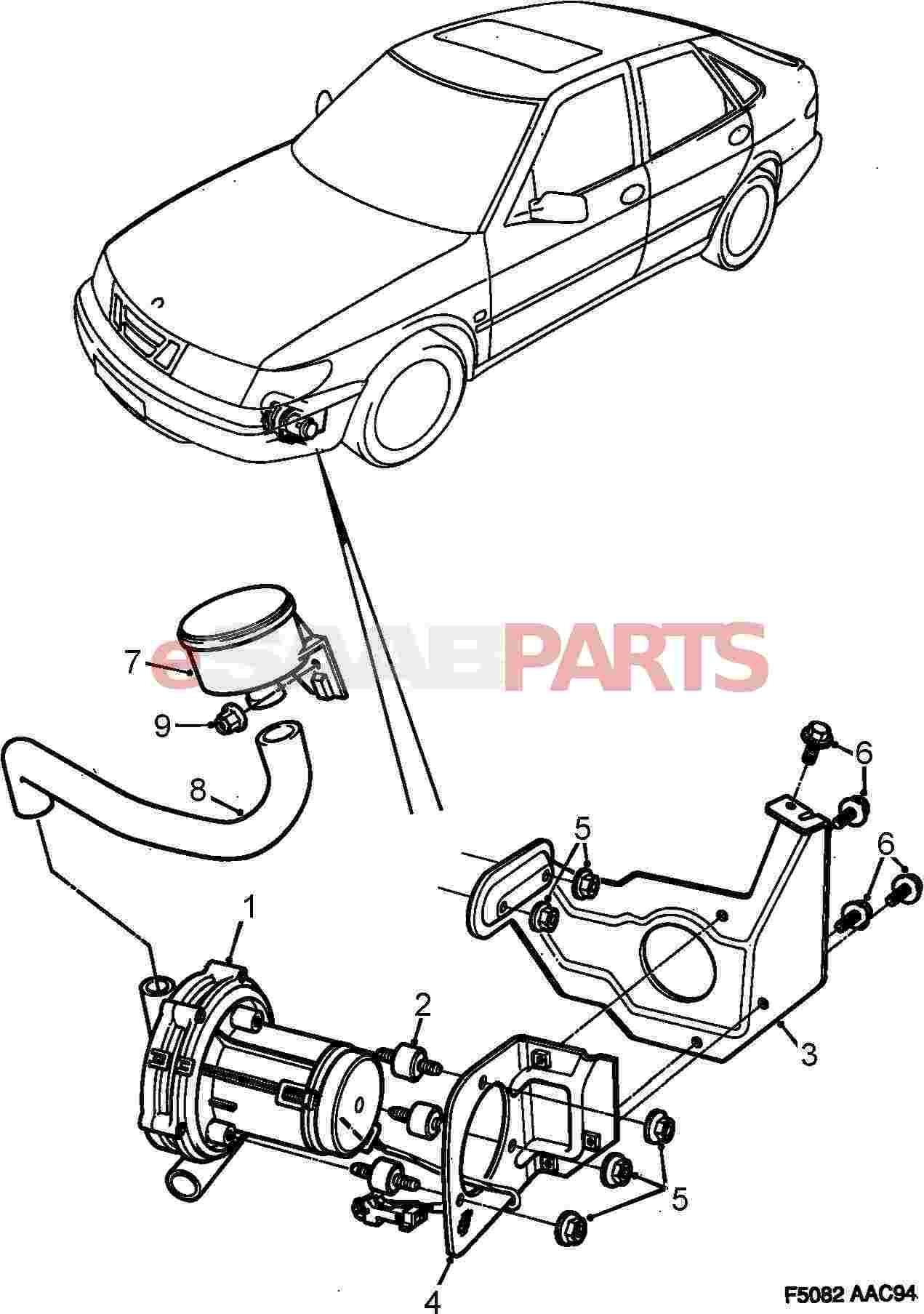 4239083  saab secondary air injection pump