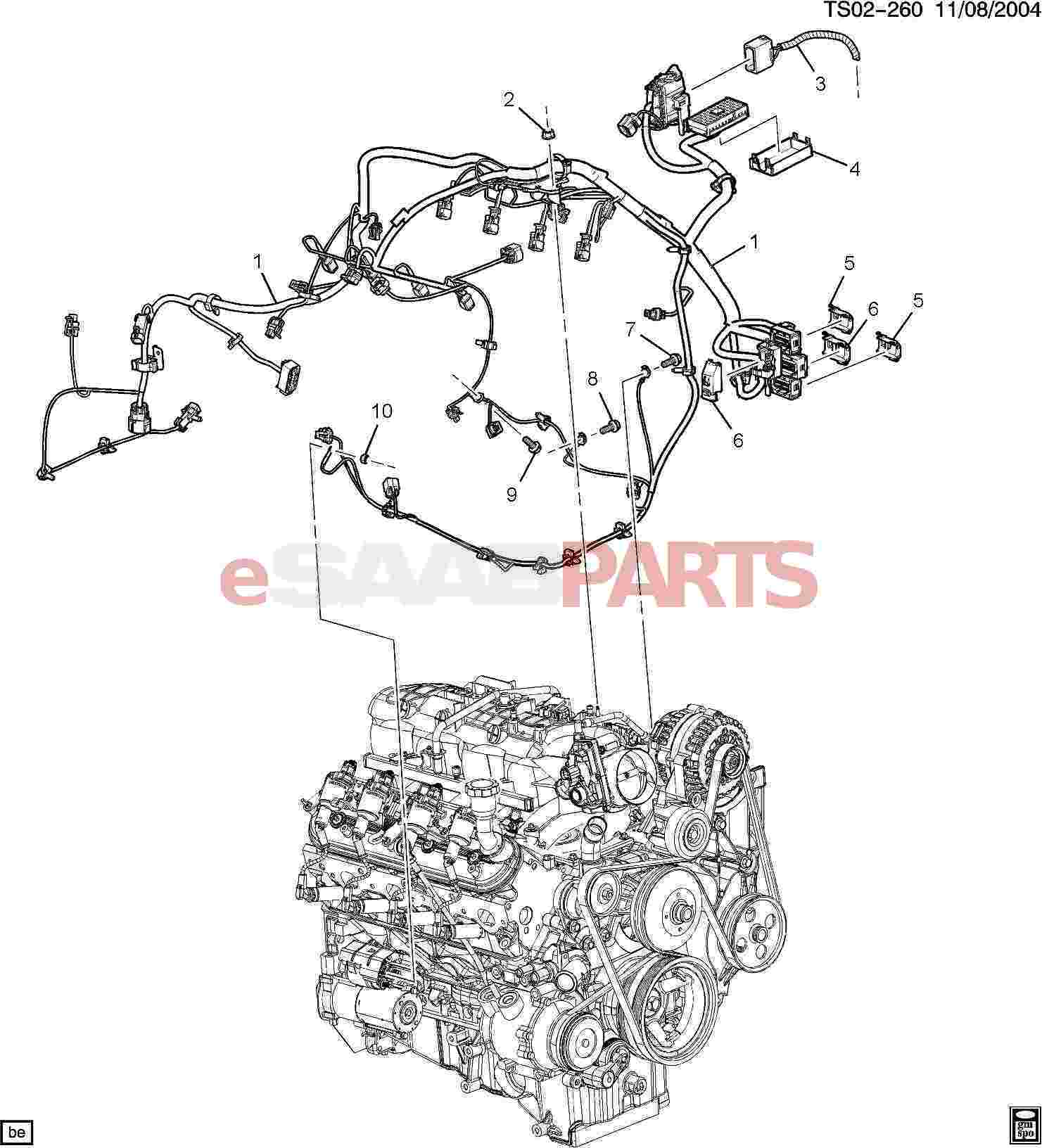eSaabParts.com - Saab 9-7x > Electrical Parts > Wiring Harness > Wiring  Harness/Engine (5.3M,6.0H)