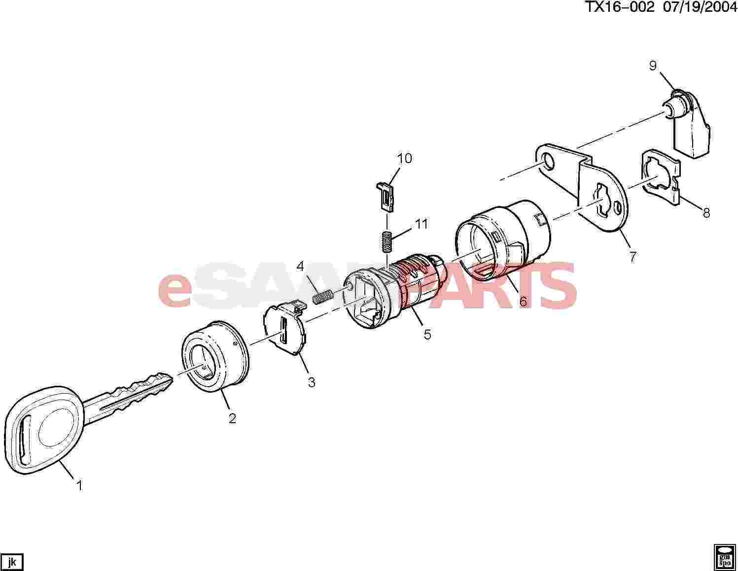 [15782681] SAAB / GM Cylinder Kit, Front S/d Lk - Genuine Saab Parts from  eSaabParts com
