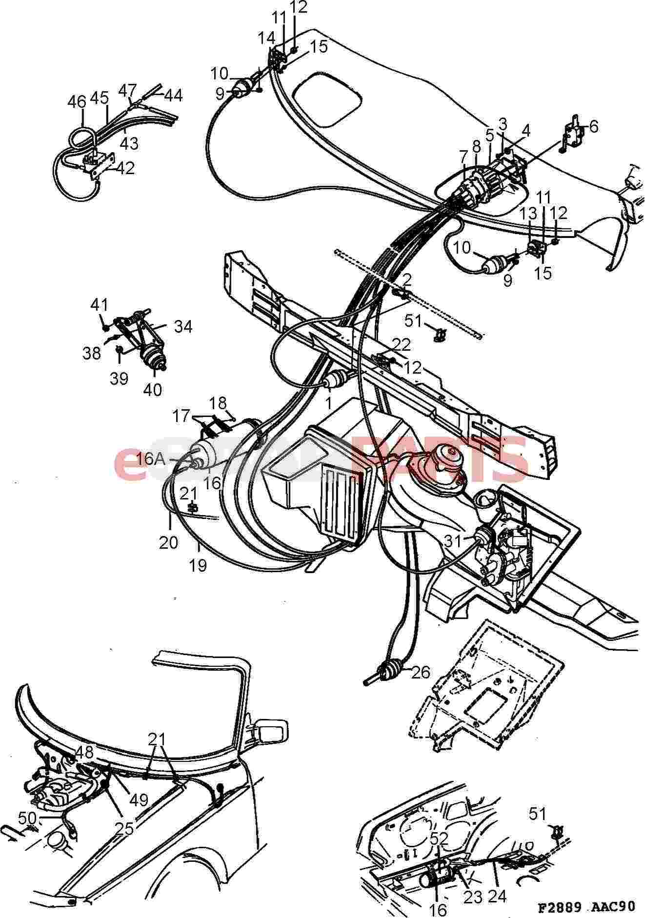 esaabparts com saab 900 u003e heating air conditioning parts rh esaabparts com saab 9 3 vacuum line diagram saab 900 vacuum hose diagram