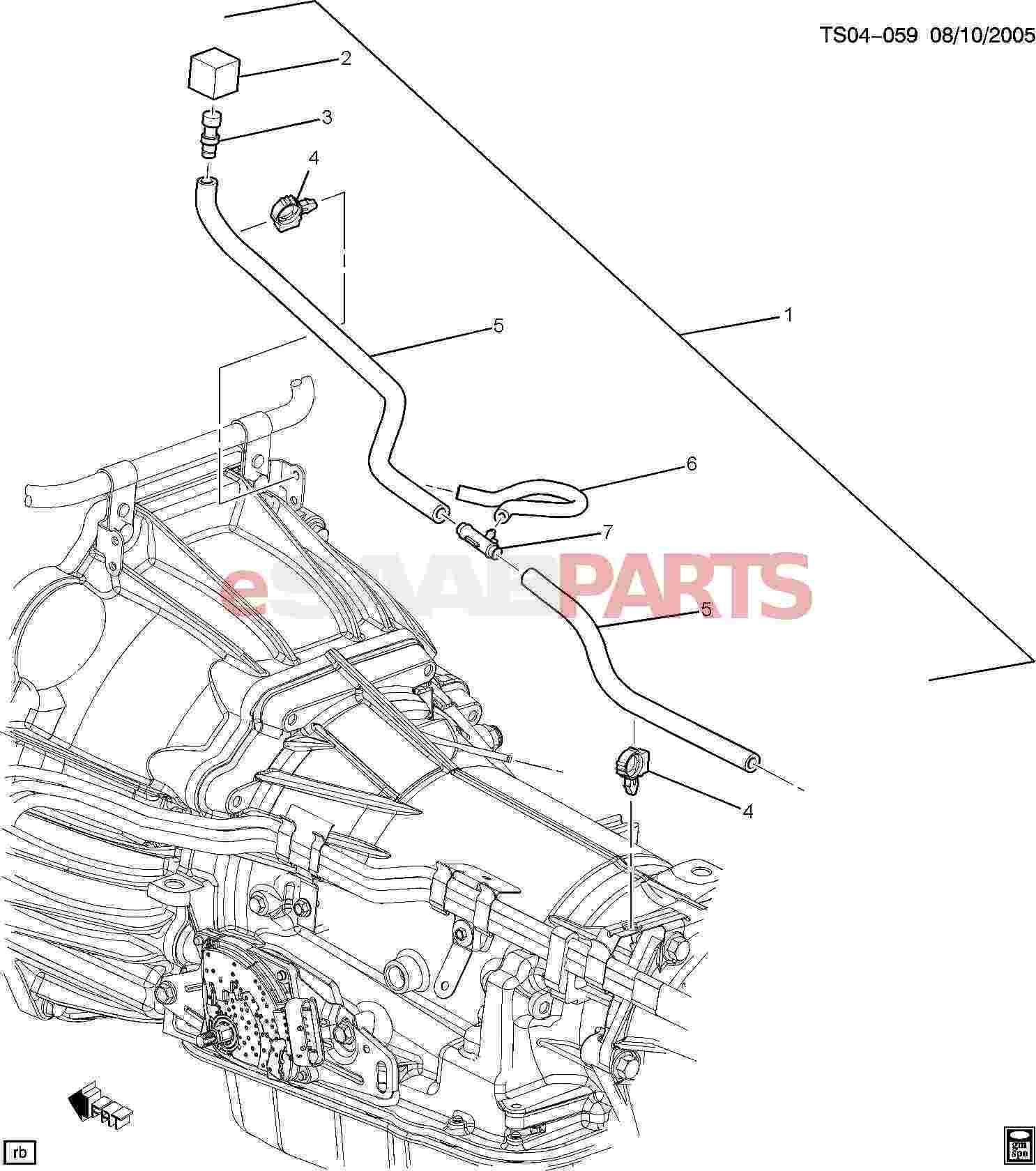 09438315  saab hose  fuel-oil evap