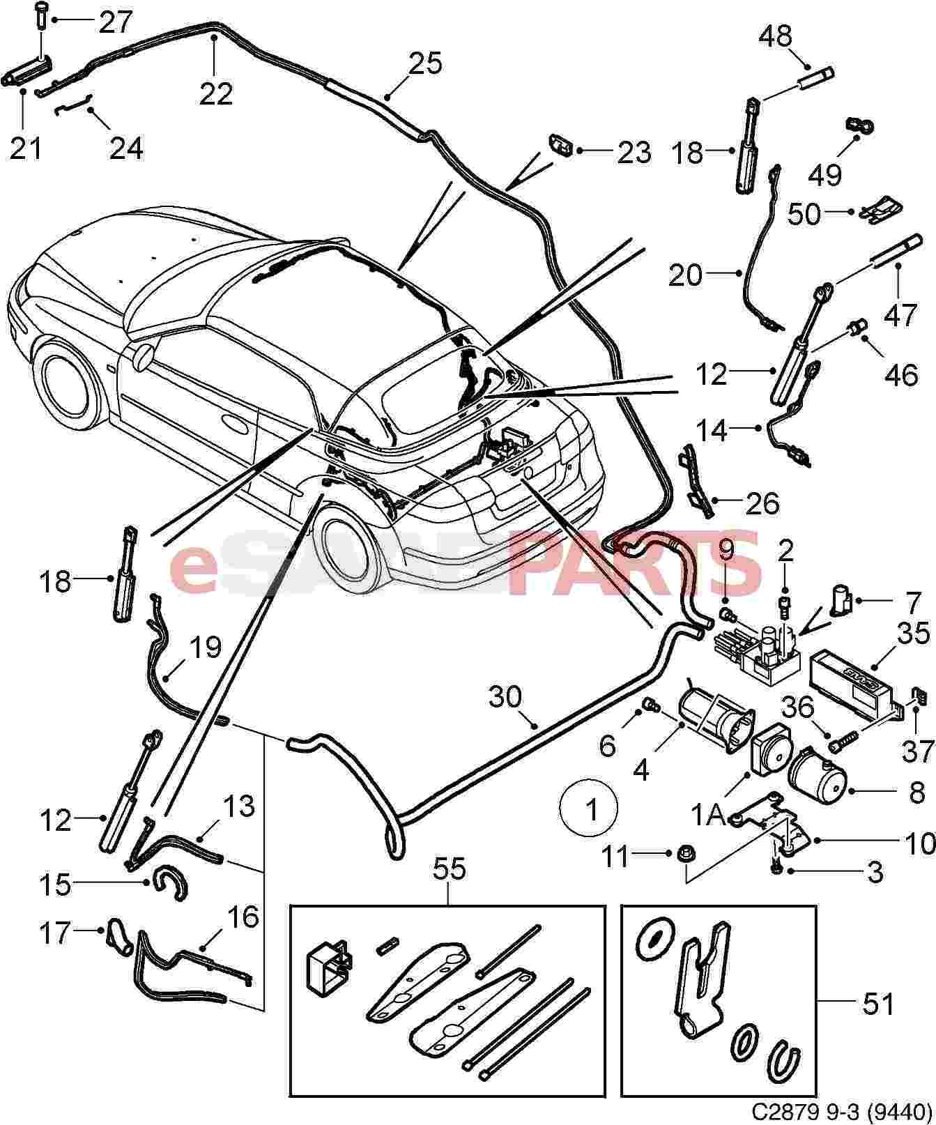2003 saab 9 3 convertible parts diagram  saab  auto wiring