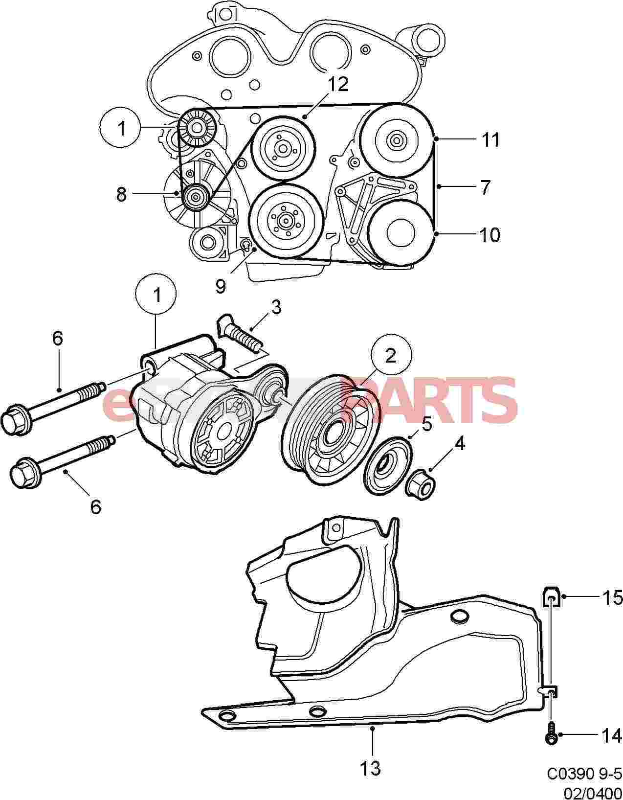 2001 saab 9 5 front suspension diagram