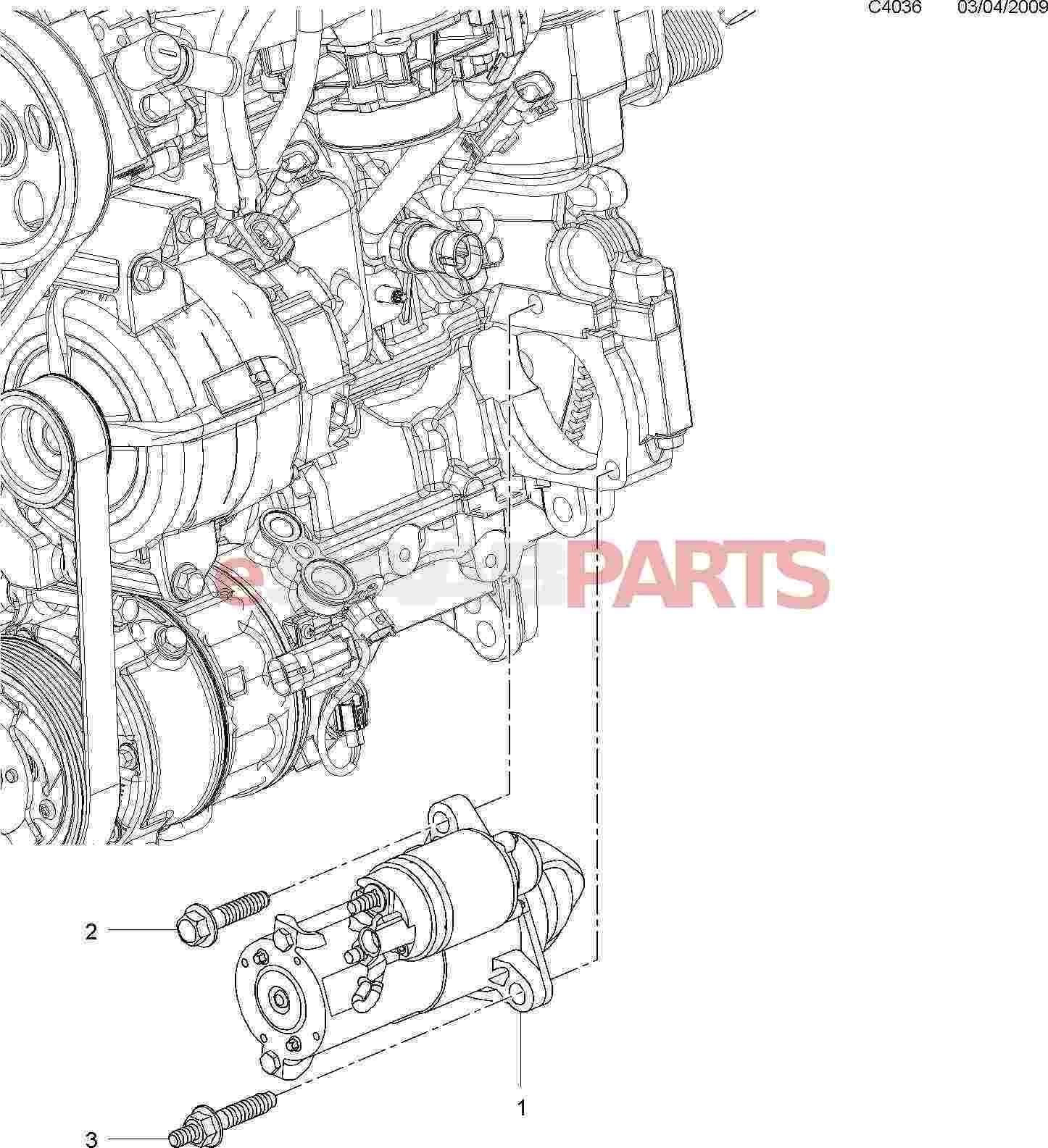12637159  Saab Starter Motor