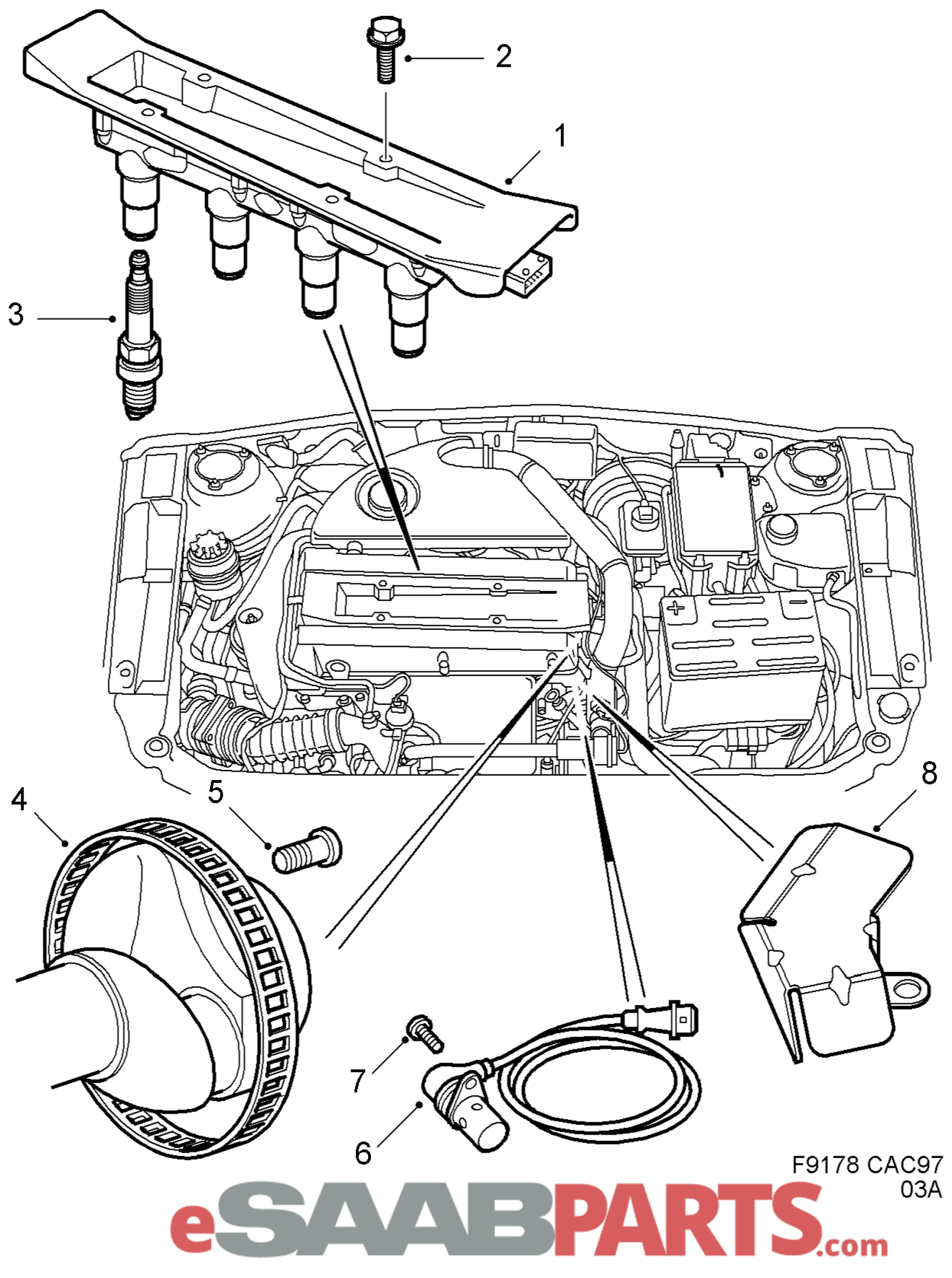 esaabparts com rh esaabparts com Wiring Diagrams Saab C900 For 2003 Saab 9  3 Wiring Diagram