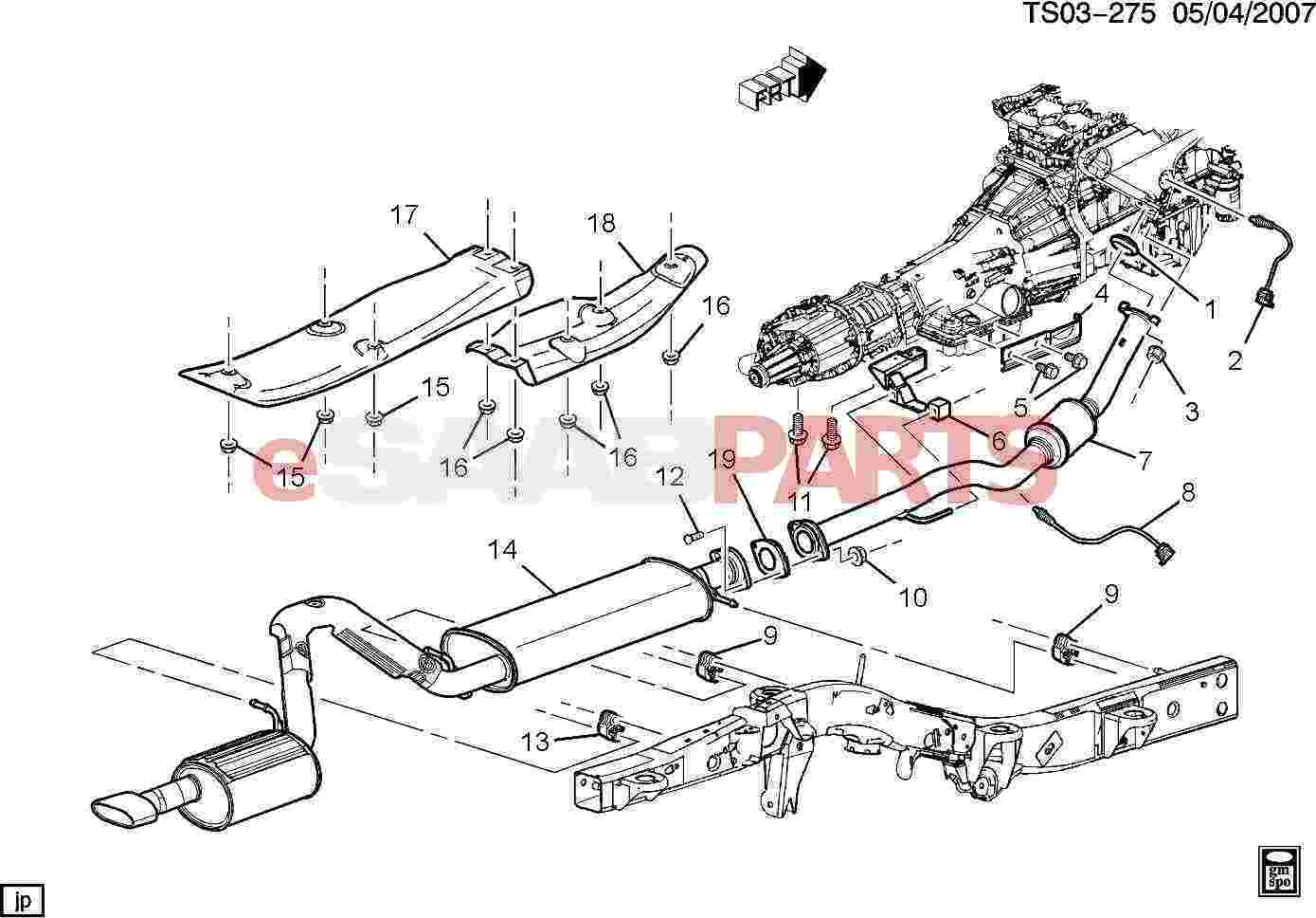 Saab 9 3 Engine Diagram Exhaust Completed Wiring Diagrams Esaabparts Com 7x U003e Parts 2004