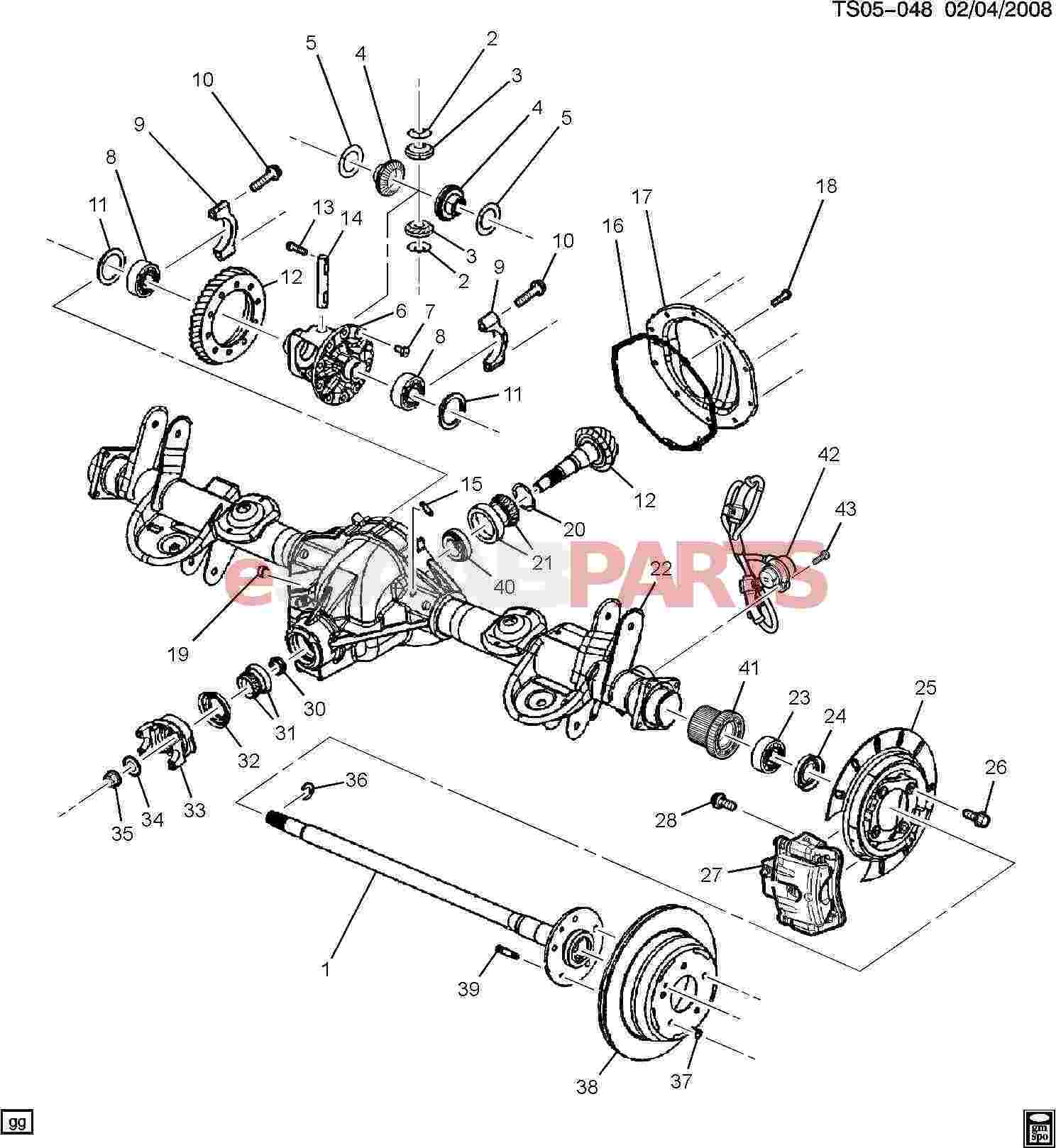 12471330  saab spacer  differential bearing