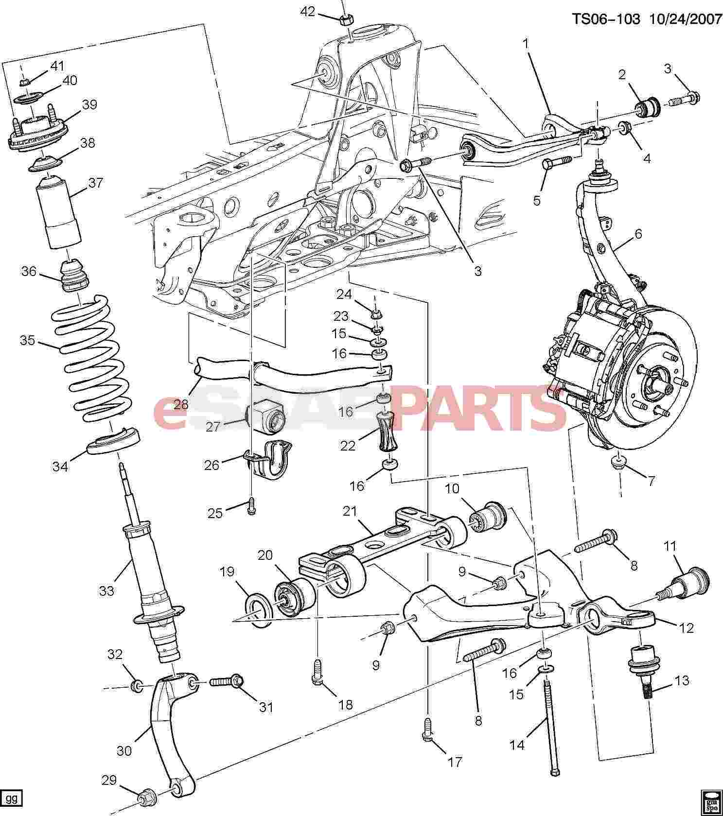 2005 saab 9 3 suspension diagram